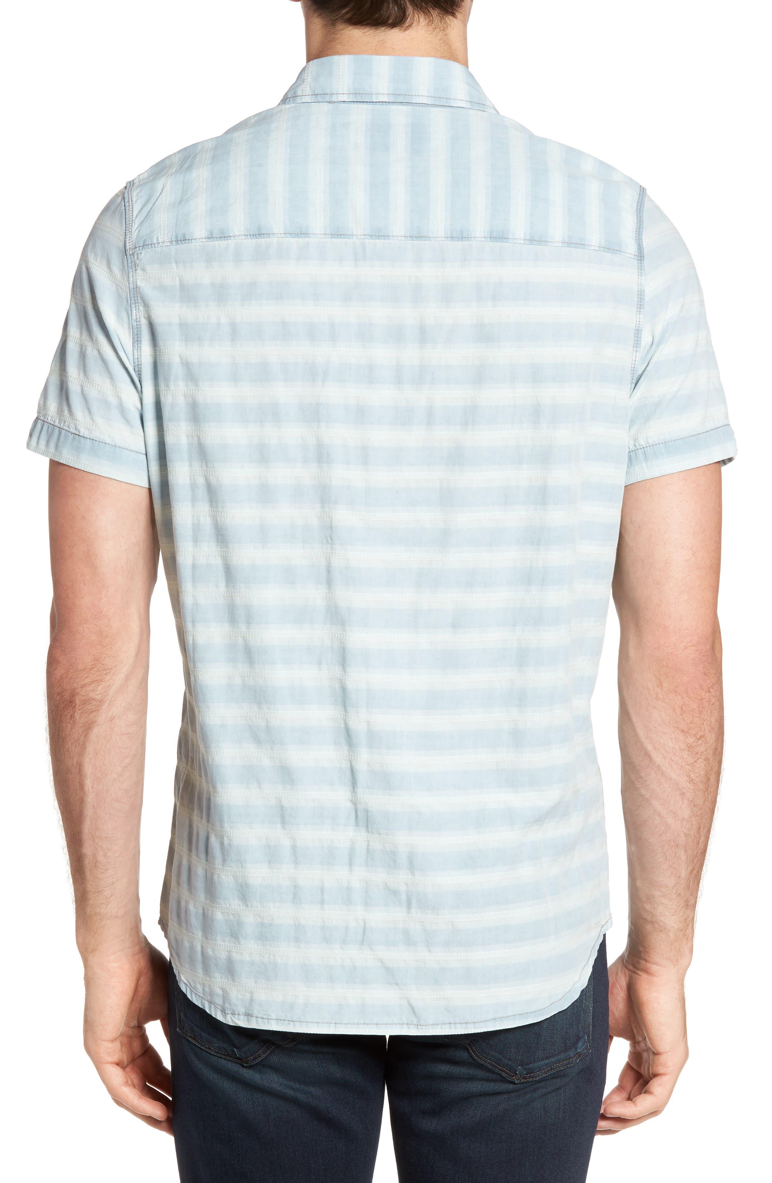 Abbott Regular Fit Dobby Stripe Sport Shirt,                             Alternate thumbnail 2, color,                             Cloud