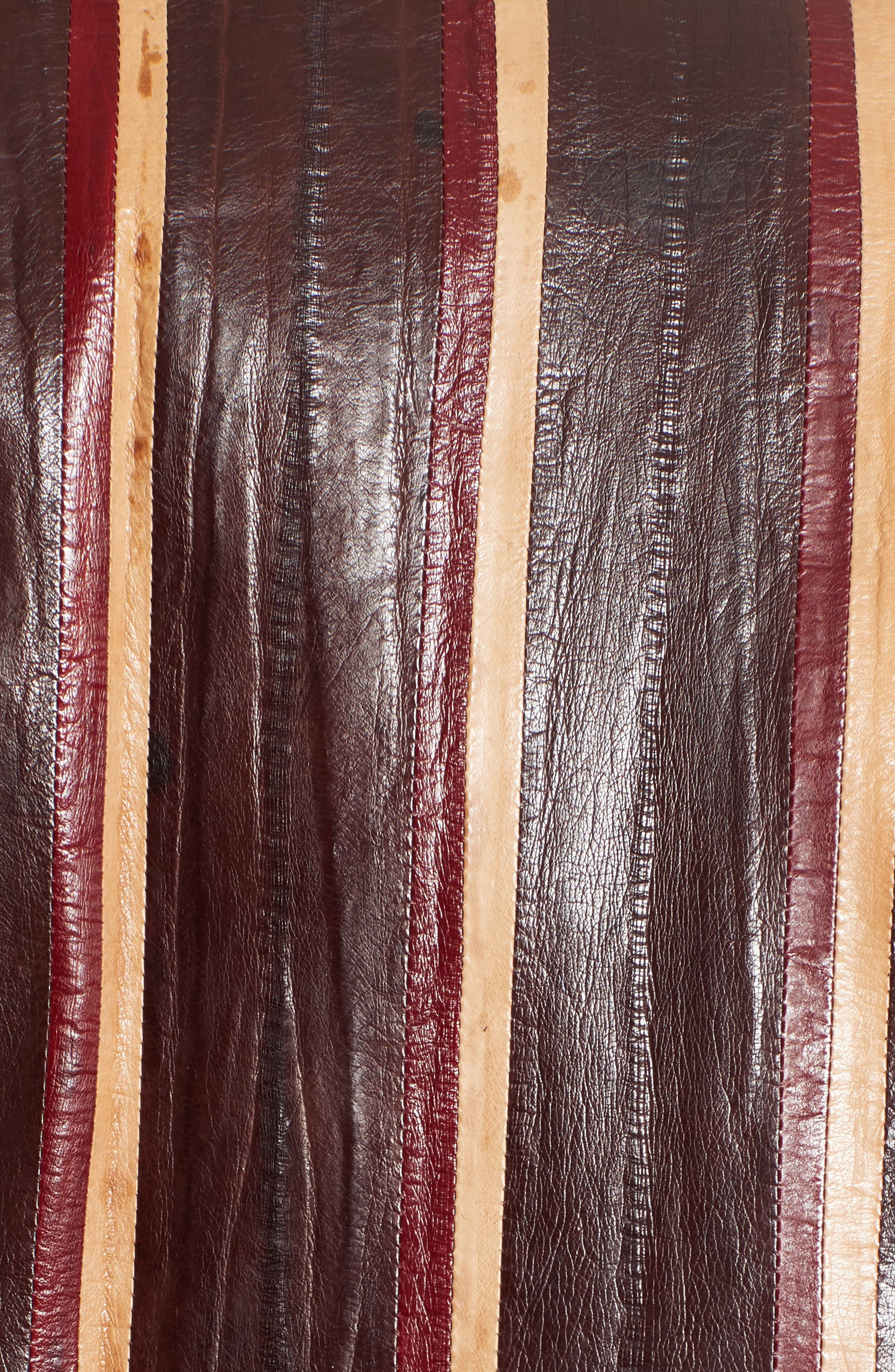 Striped Genuine Eelskin Vest,                             Alternate thumbnail 3, color,                             Oxblood