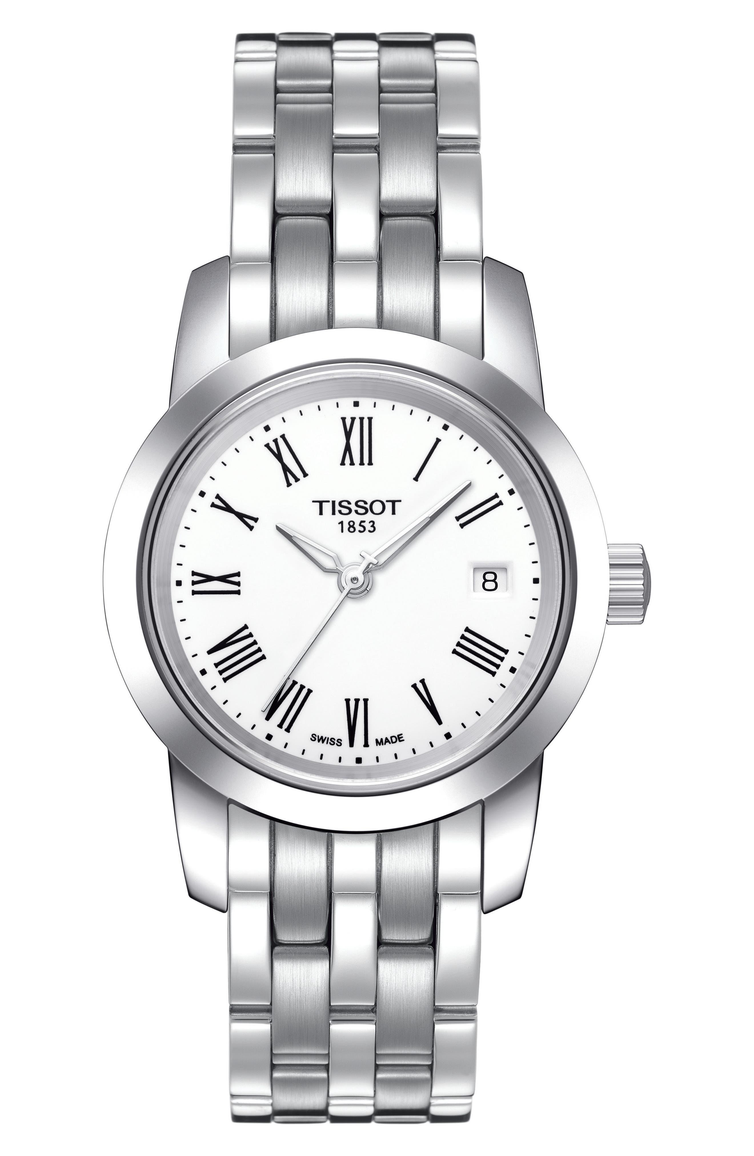 Classic Dream Bracelet Watch, 28mm,                             Main thumbnail 1, color,                             Silver/ White/ Silver