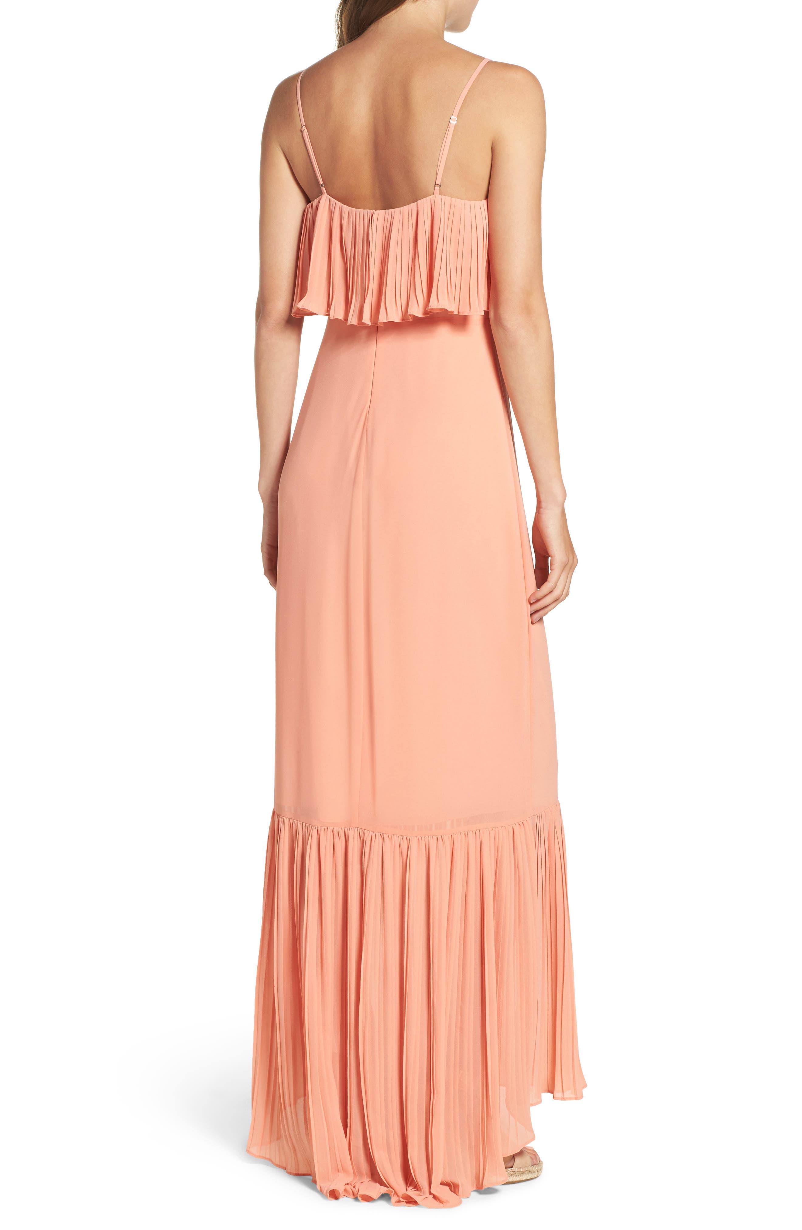 Moroccan Villa Maxi Dress,                             Alternate thumbnail 3, color,                             Desert Sunset