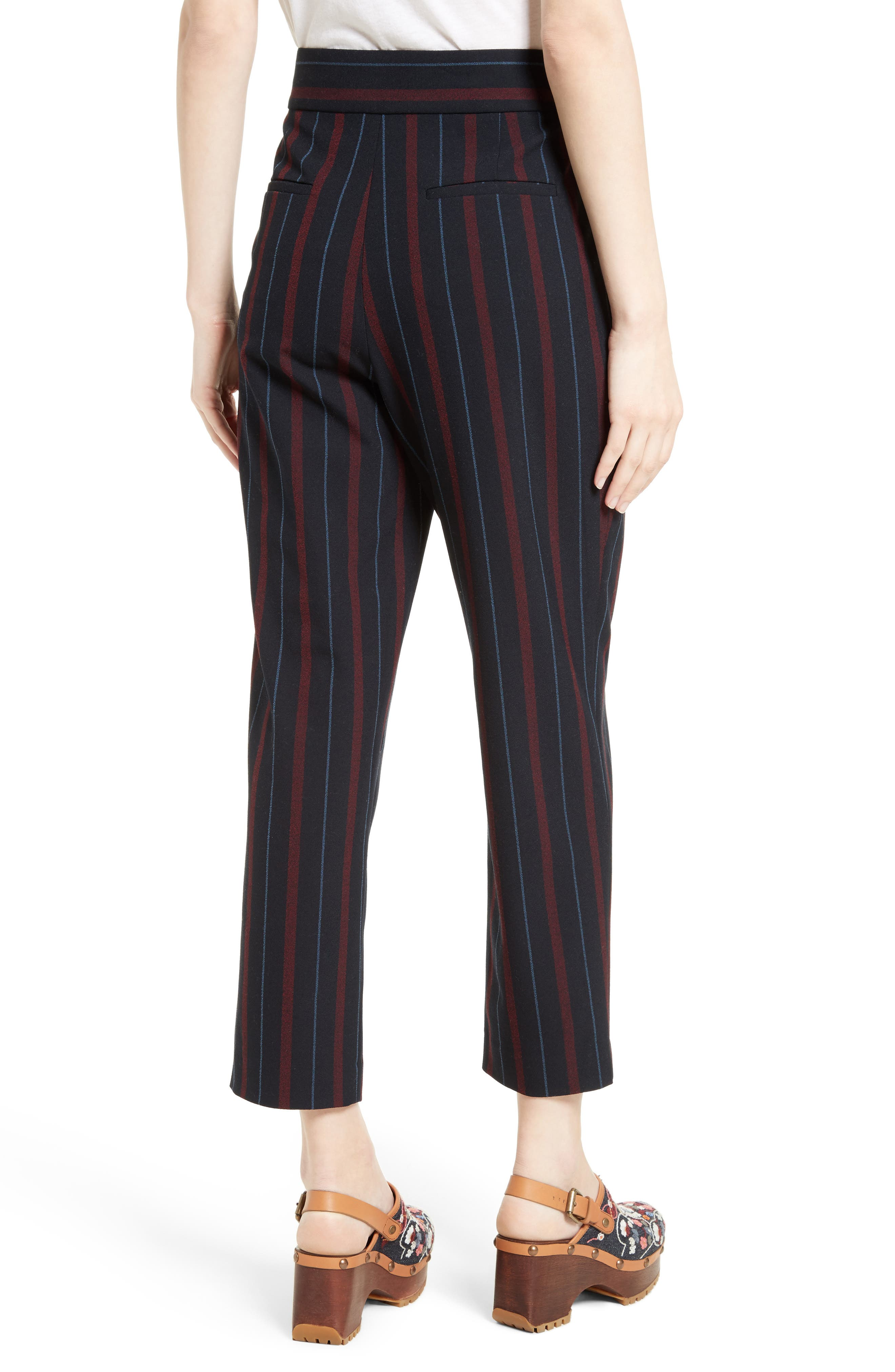 Alternate Image 2  - See by Chloé Stripe Straight Leg Trousers