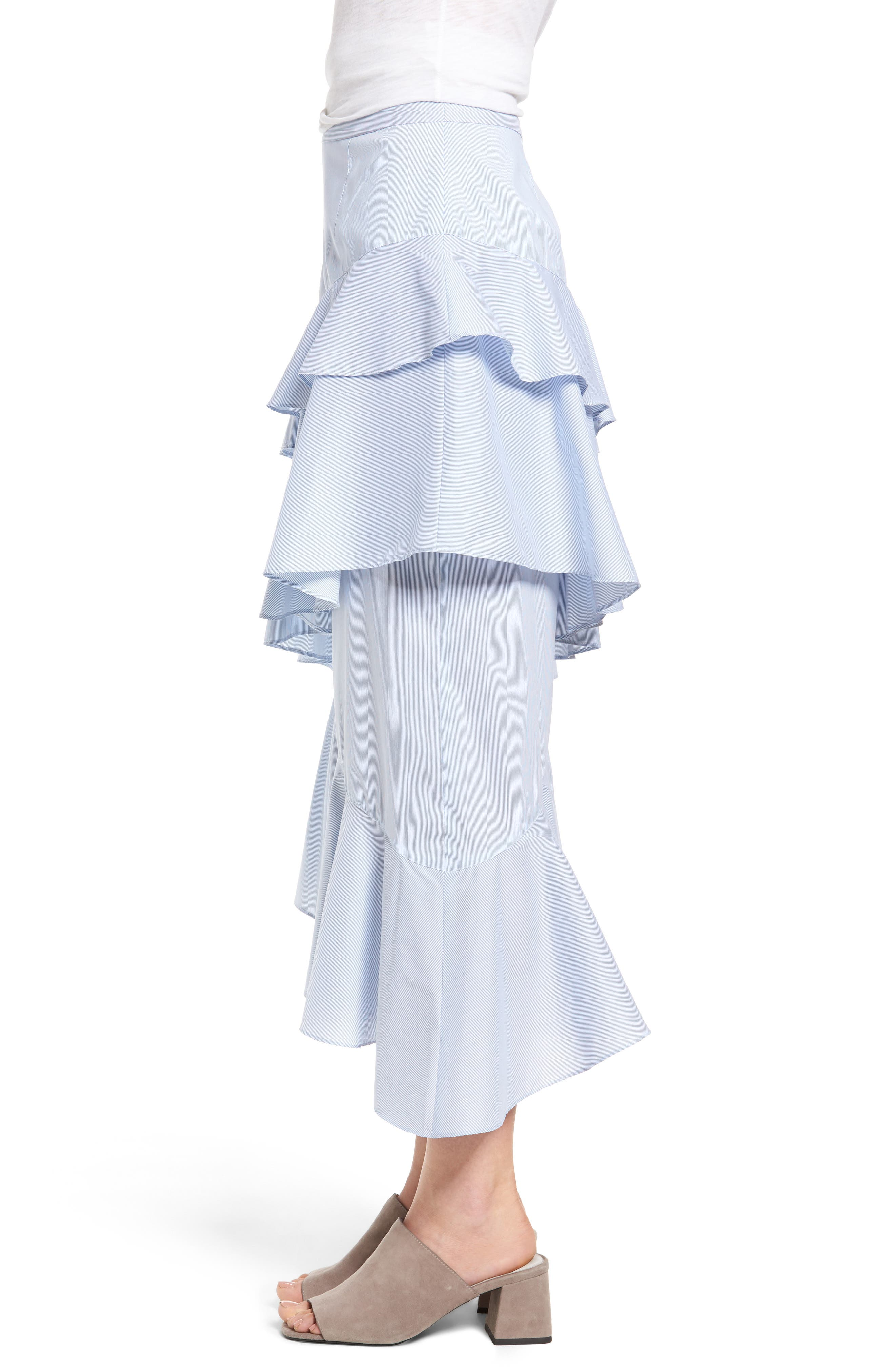 Alternate Image 5  - Chelsea28 Ruffle Midi Skirt