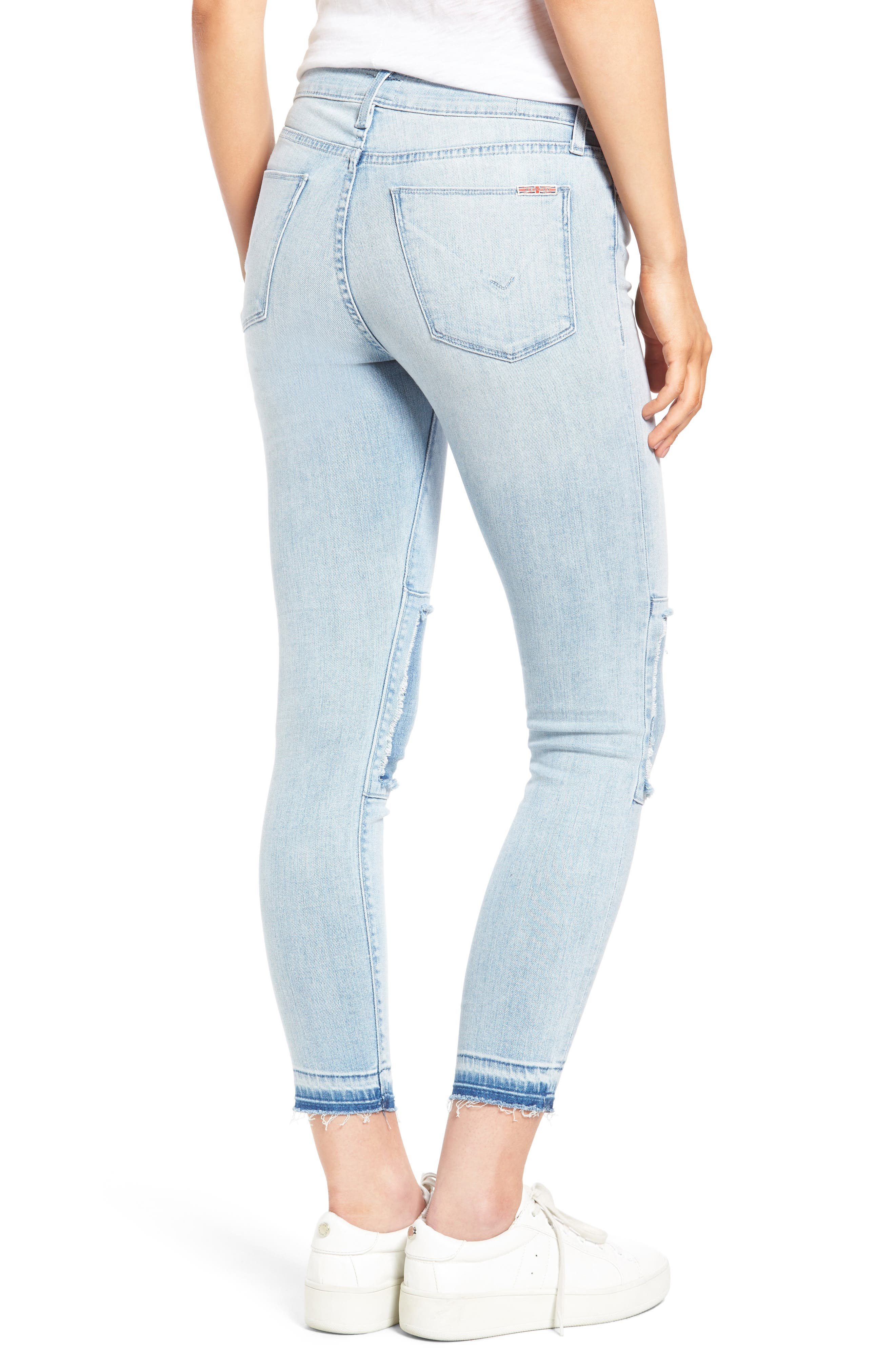 Alternate Image 2  - Hudson Jeans Szzi Mid Rise Patched Skinny Jeans (Venue)
