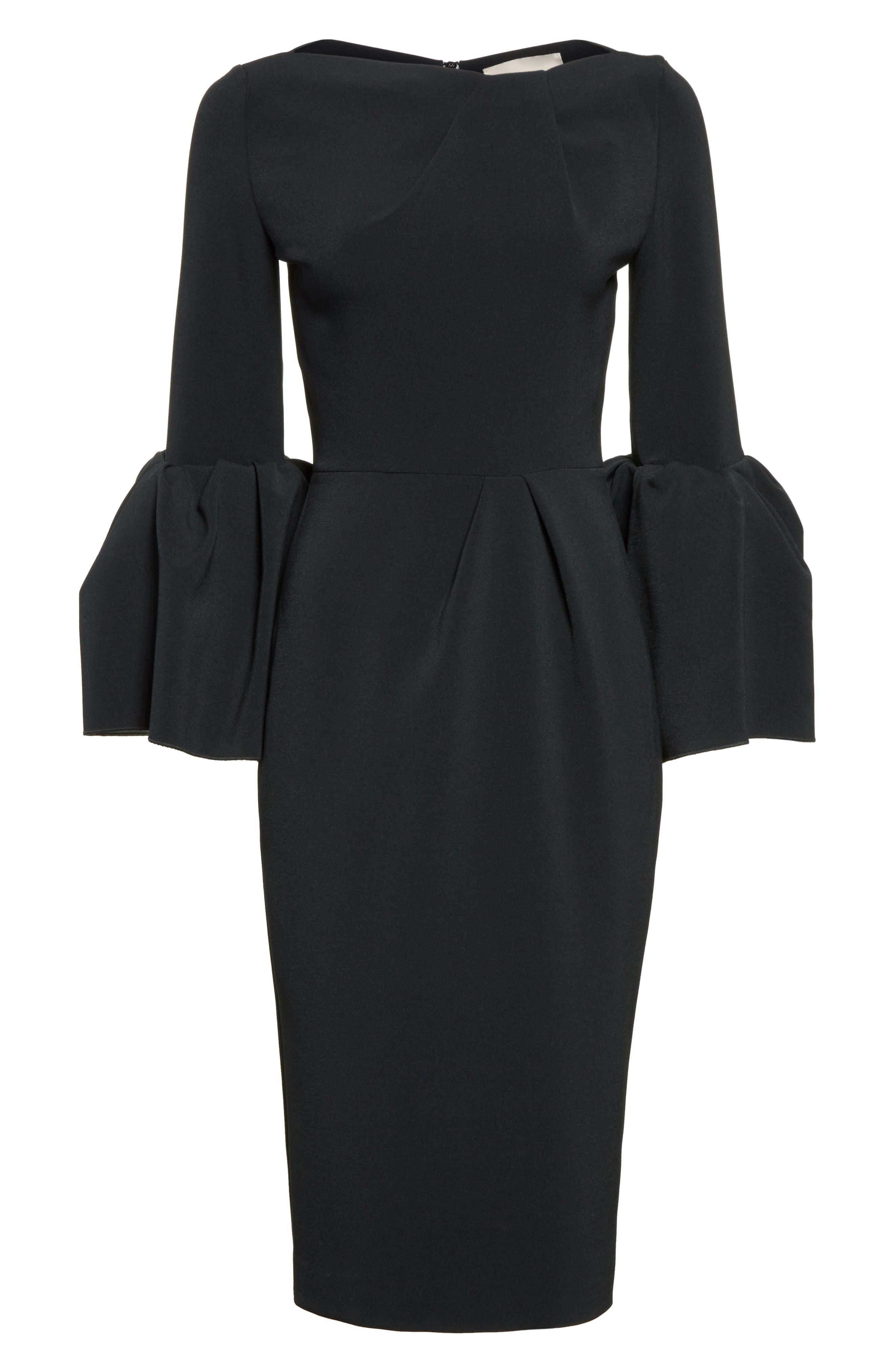 Margot Dress,                             Alternate thumbnail 4, color,                             Black/Ivory