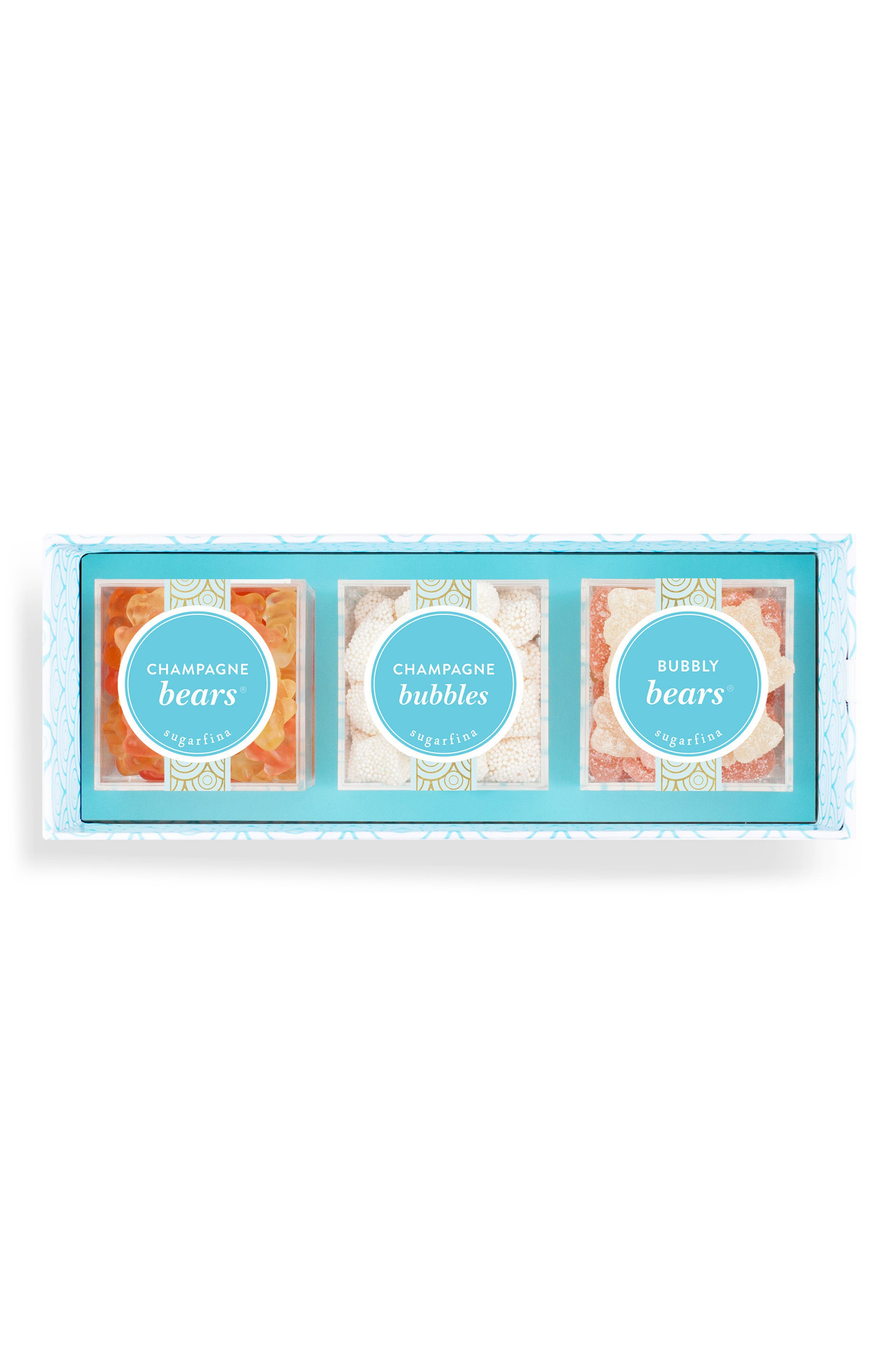 Cheers Champagne 3-Piece Candy Bento Box,                             Main thumbnail 1, color,                             Blue