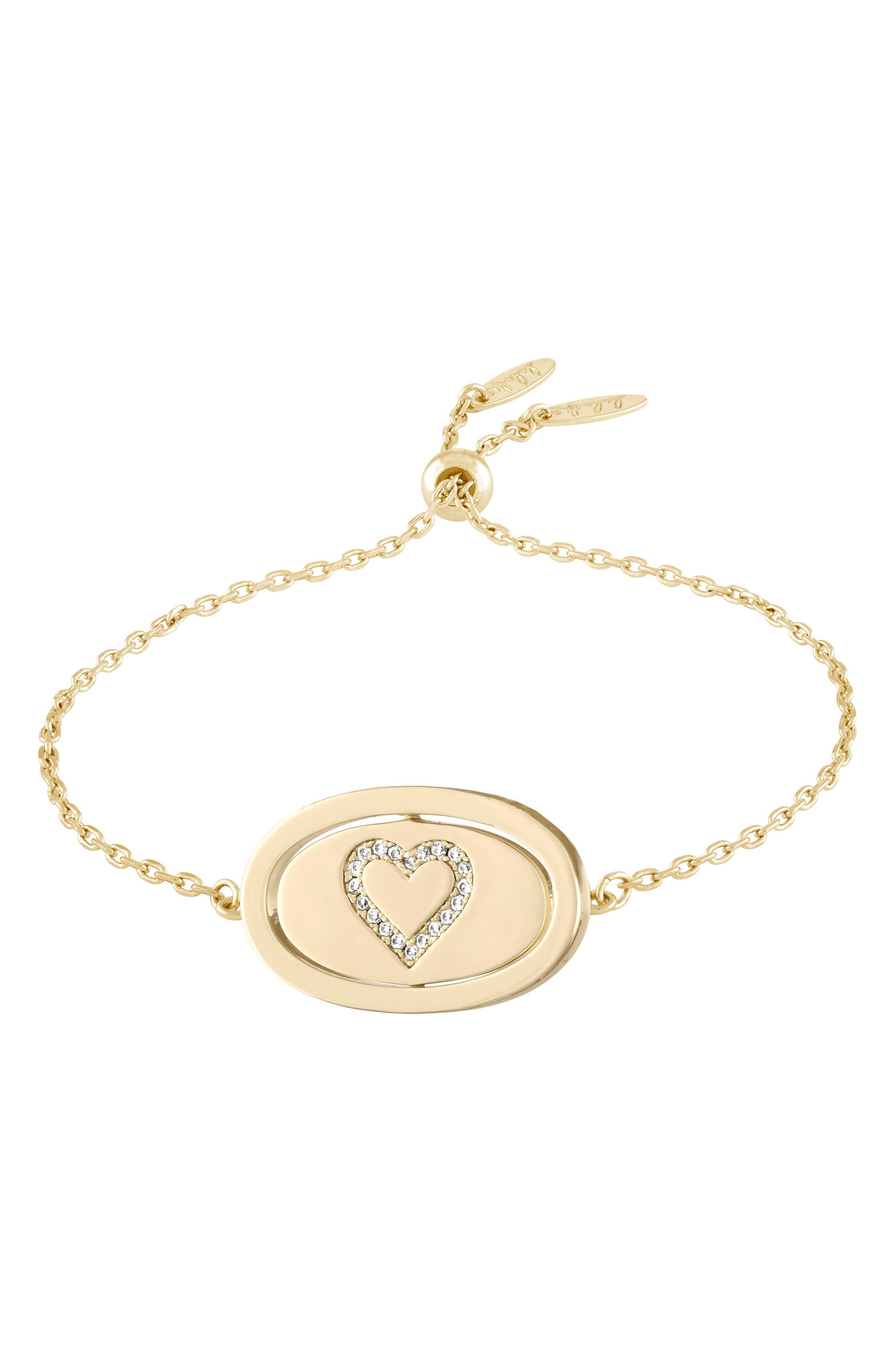 Love Letters Spinning Pendant Bracelet,                         Main,                         color, Je Taime/ Gold