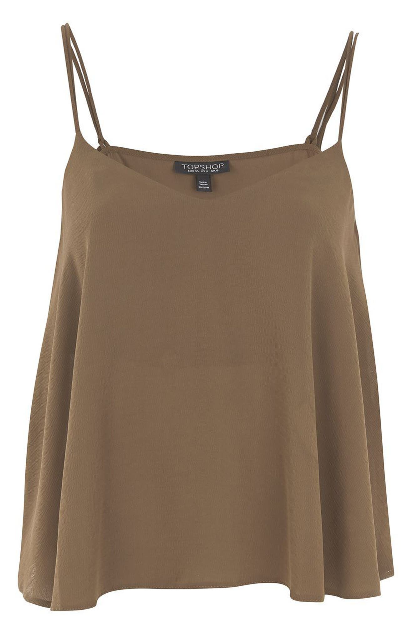 Rouleau Swing Camisole,                             Alternate thumbnail 4, color,                             Olive