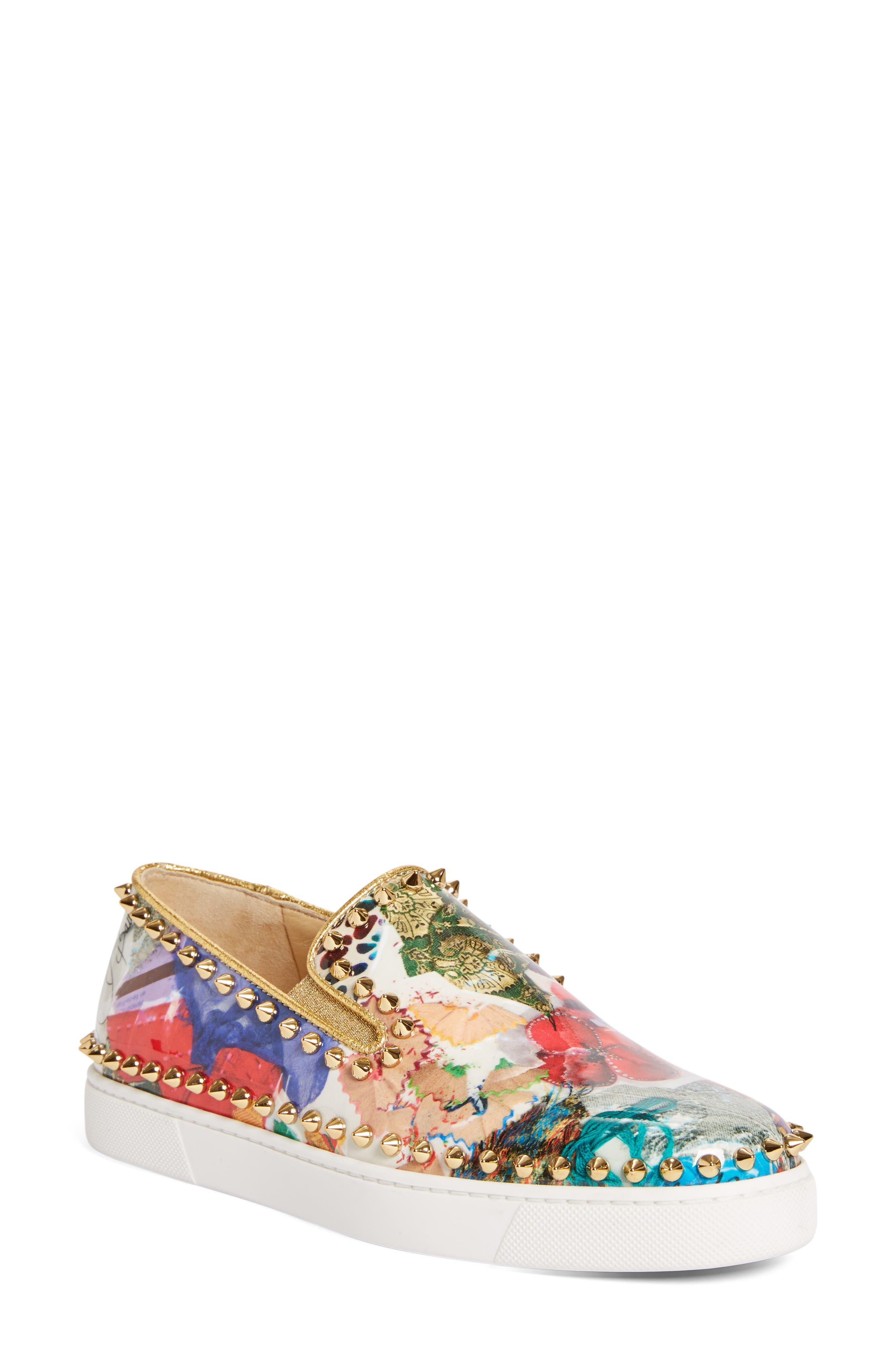 Alternate Image 1 Selected - Christian Louboutin Pik Boat Slip-On Sneaker (Women)