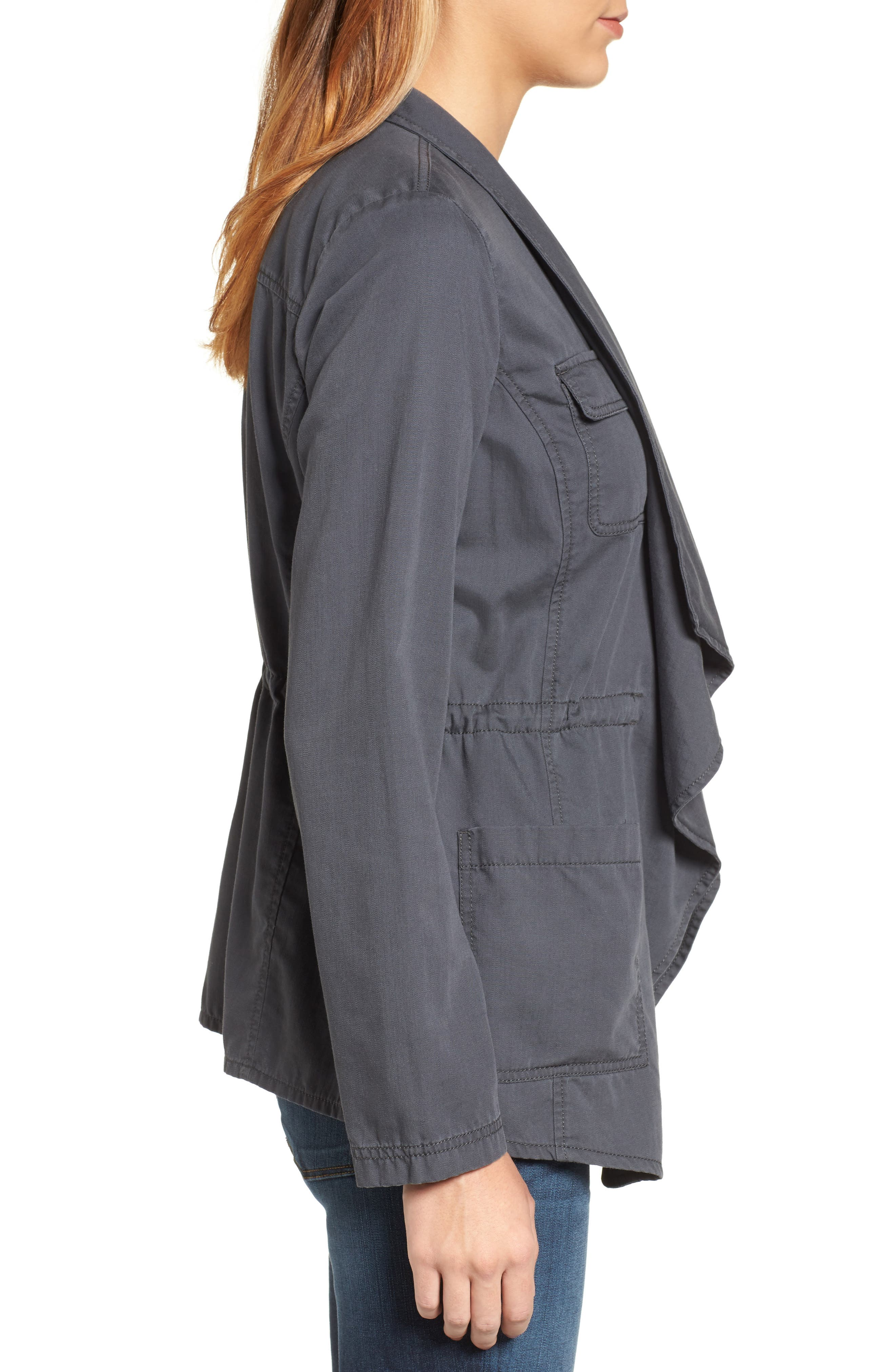 Alternate Image 3  - Caslon® Draped Utility Jacket (Regular & Petite)