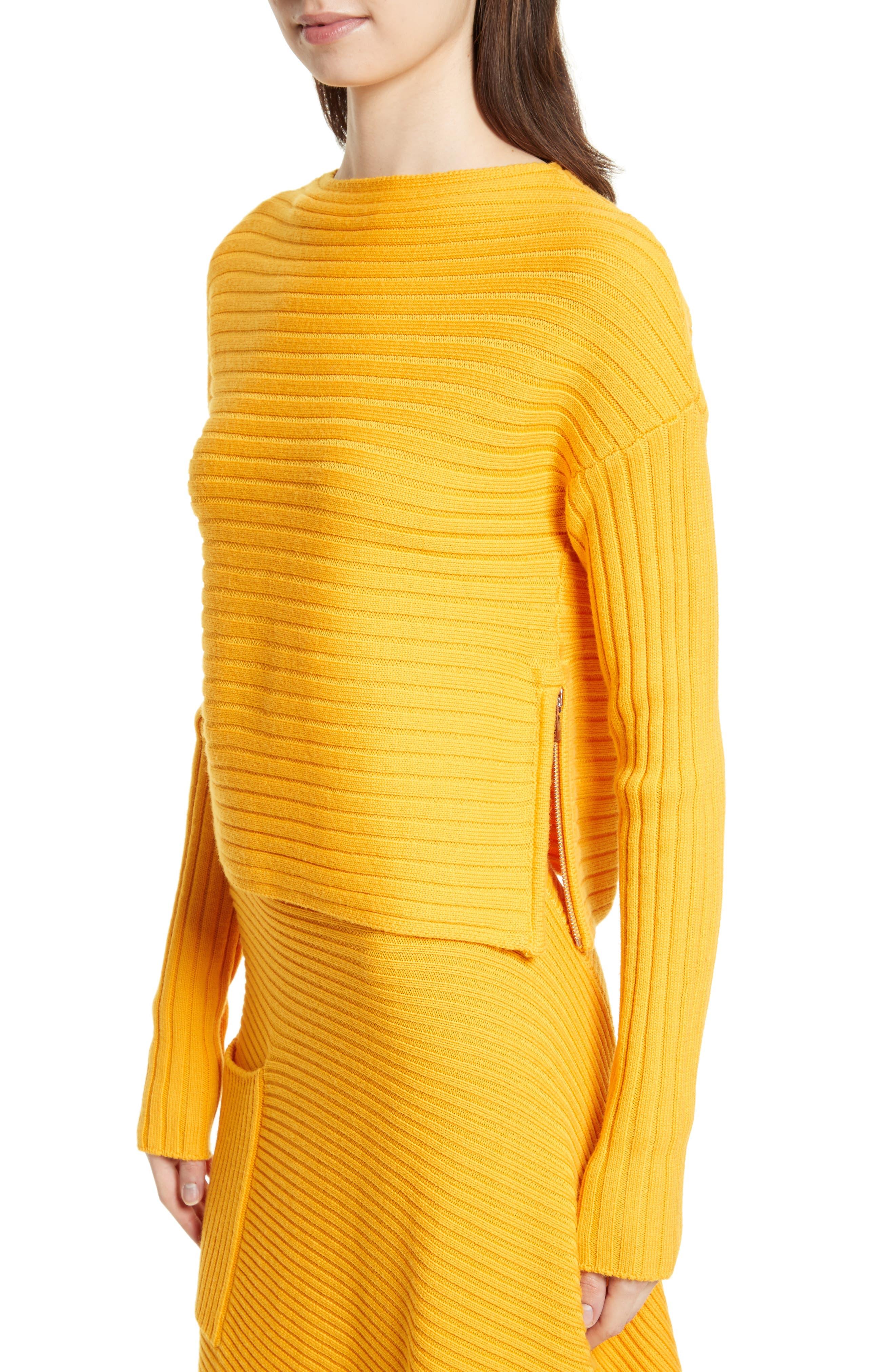 Alternate Image 4  - Tibi Ribbed Wool Sweater