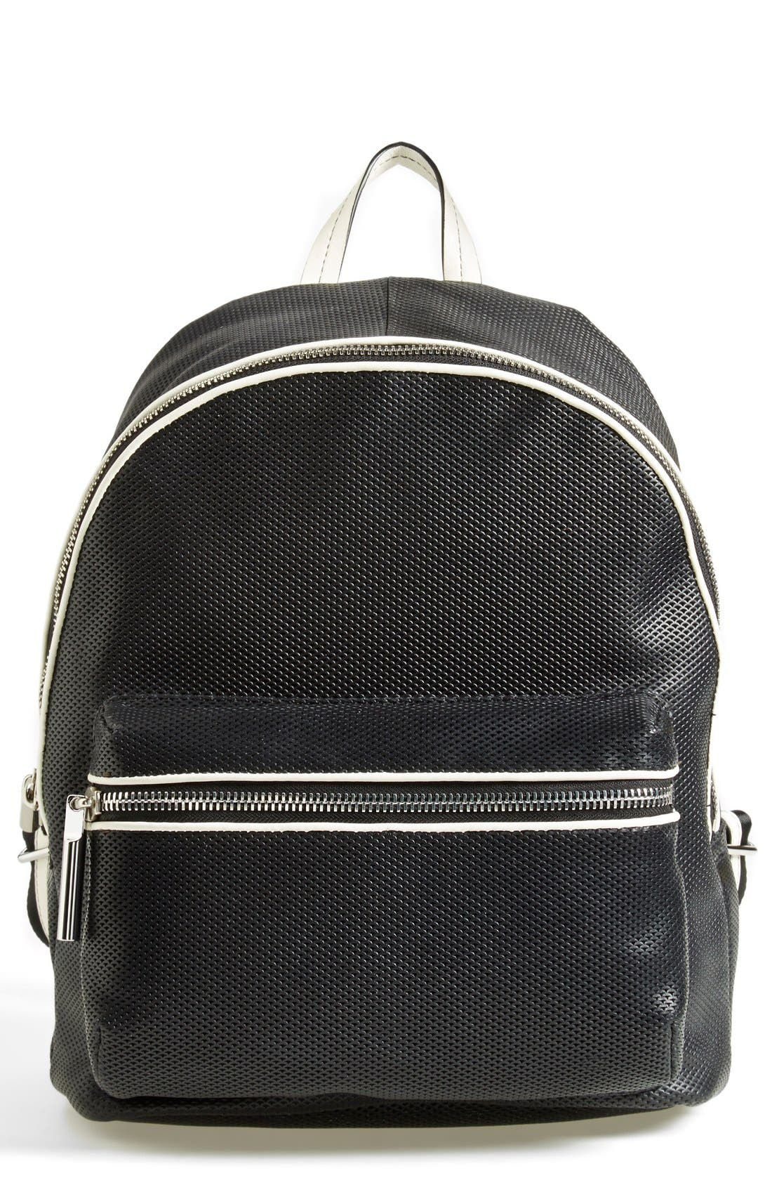 Alternate Image 1 Selected - Elizabeth and James 'Cynnie' Perforated Leather Backpack