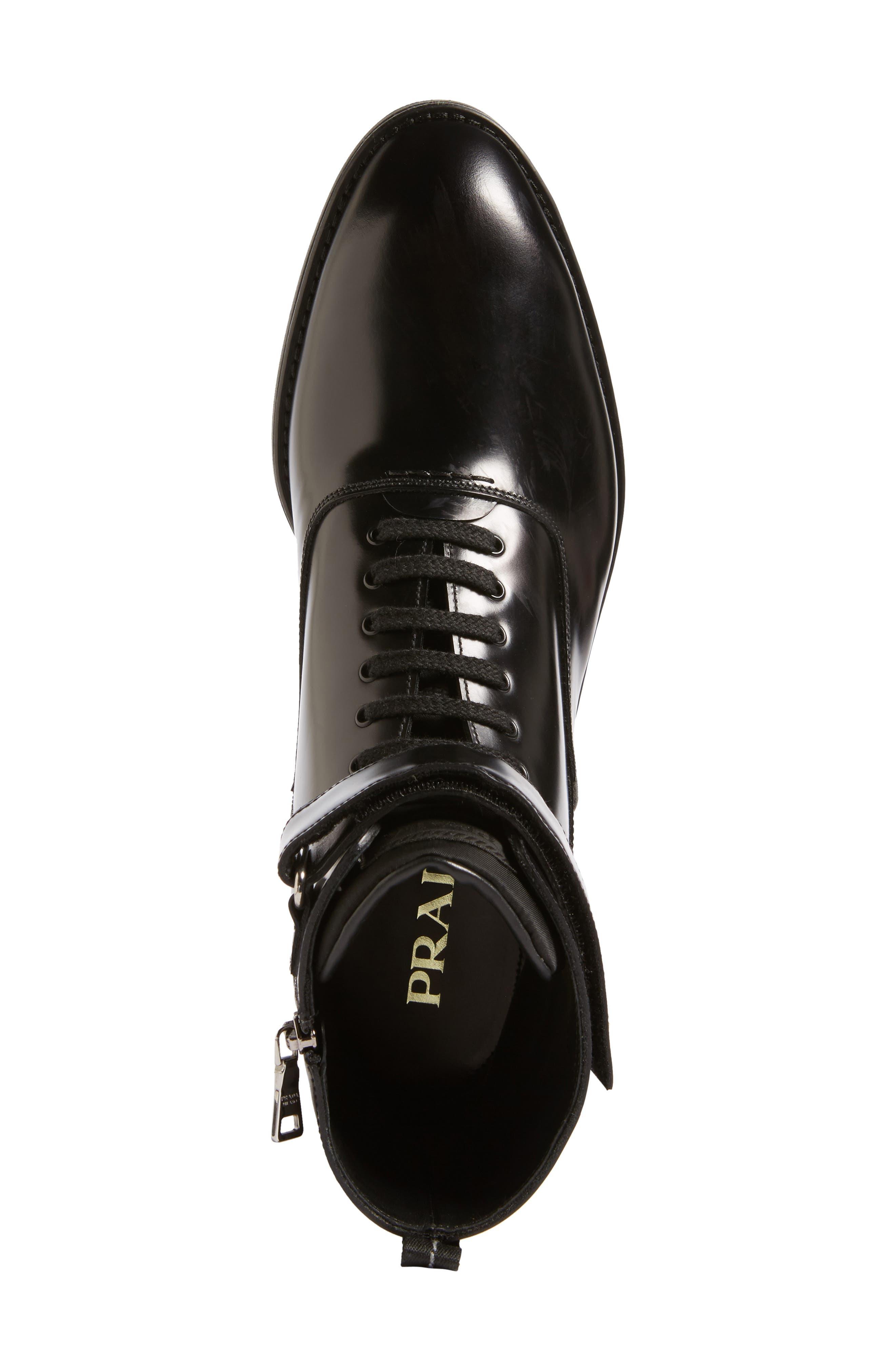 Plain Toe Boot,                             Alternate thumbnail 5, color,                             Nero