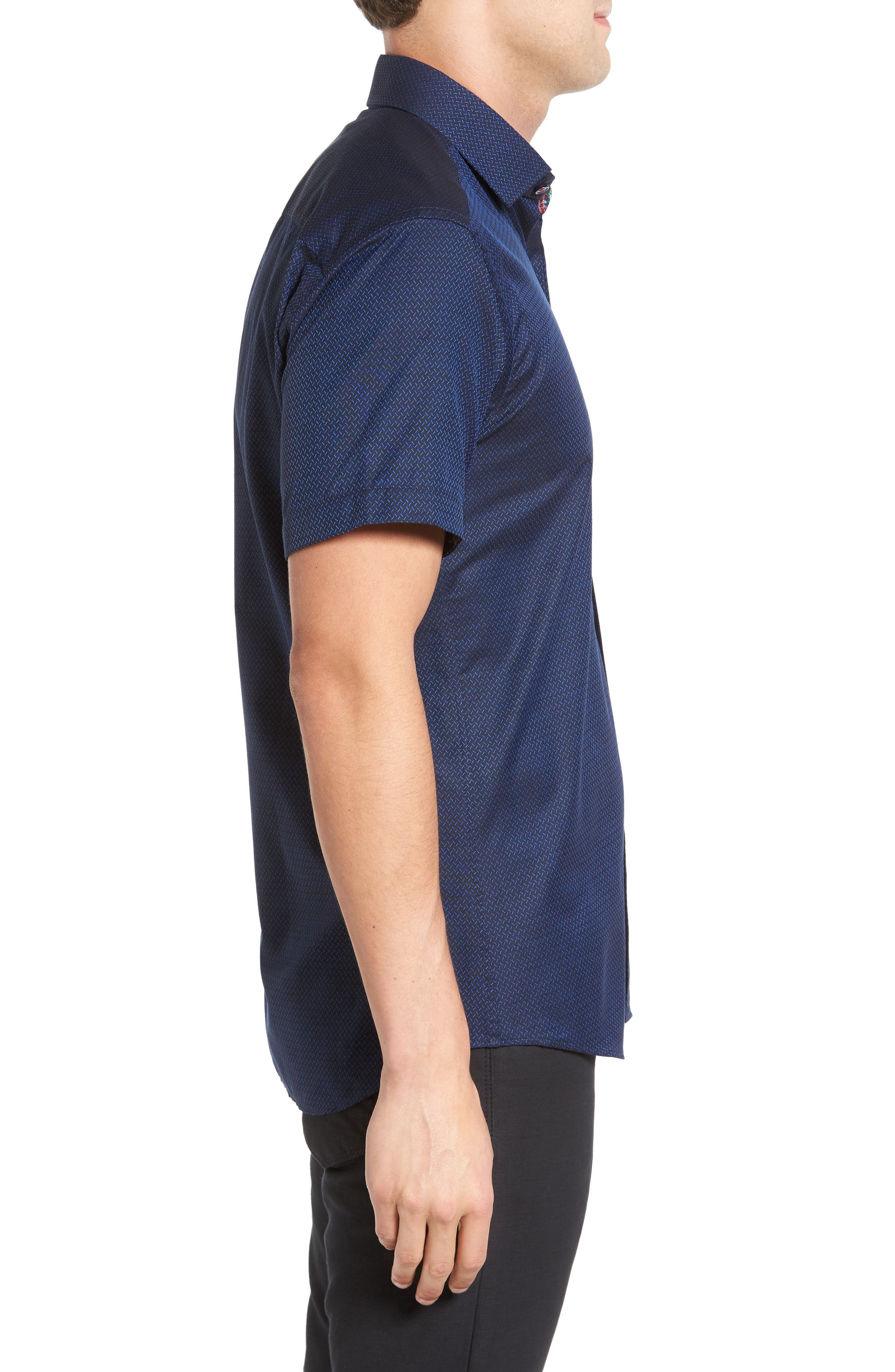 Alternate Image 3  - Jared Lang Trim Fit Print Sport Shirt