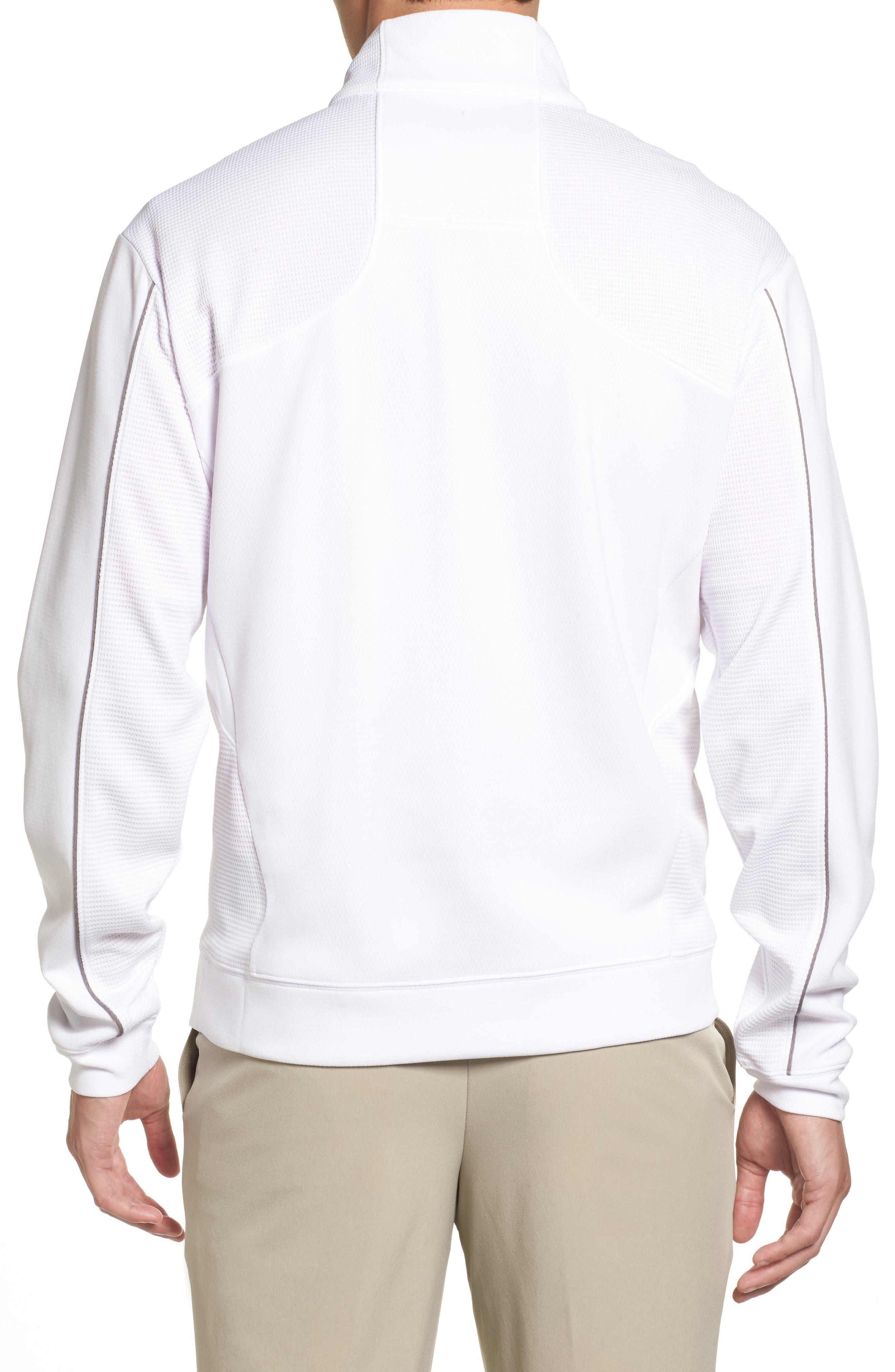 'DryTec<sup>®</sup> Edge' Half Zip Mesh Pullover,                             Alternate thumbnail 2, color,                             White