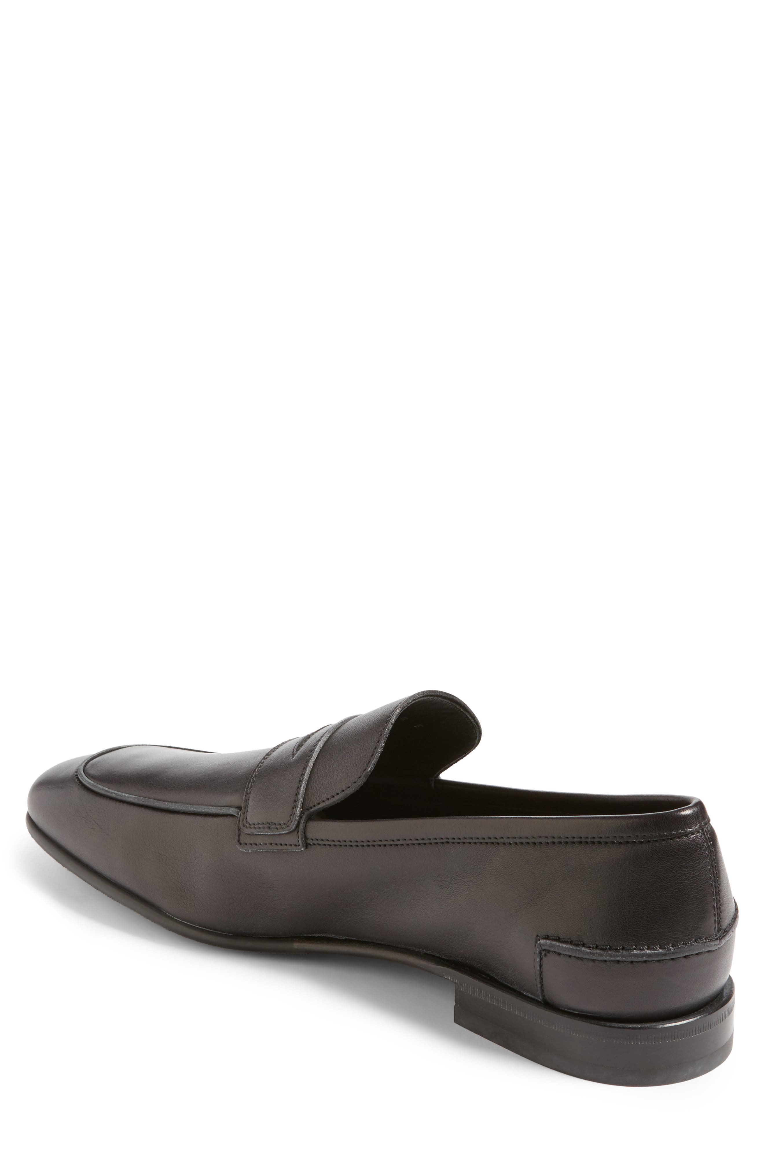 Duchamp Penny Loafer,                             Alternate thumbnail 2, color,                             Nero Leather