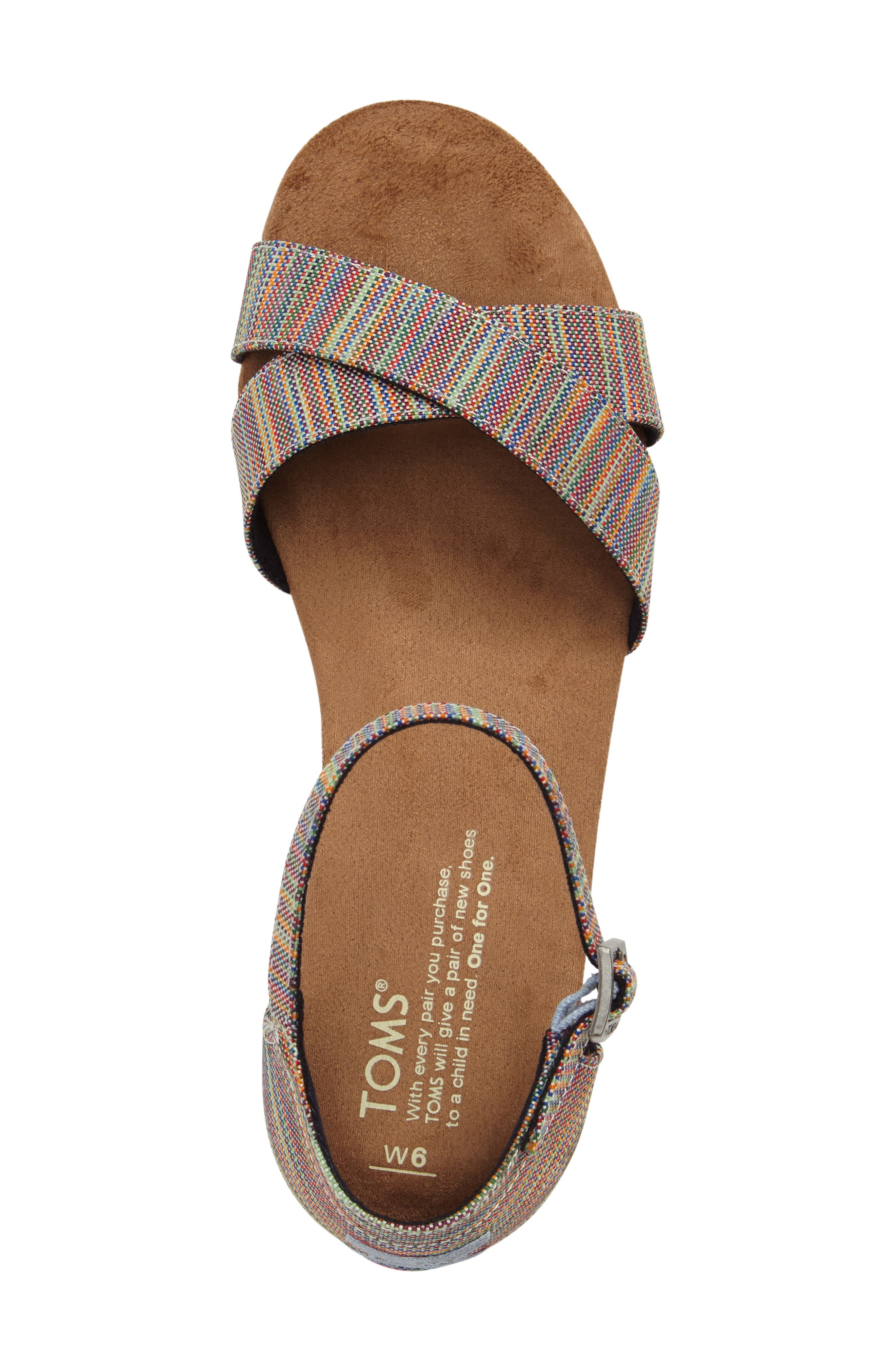 Correa Sandal,                             Alternate thumbnail 5, color,                             Blue Multi