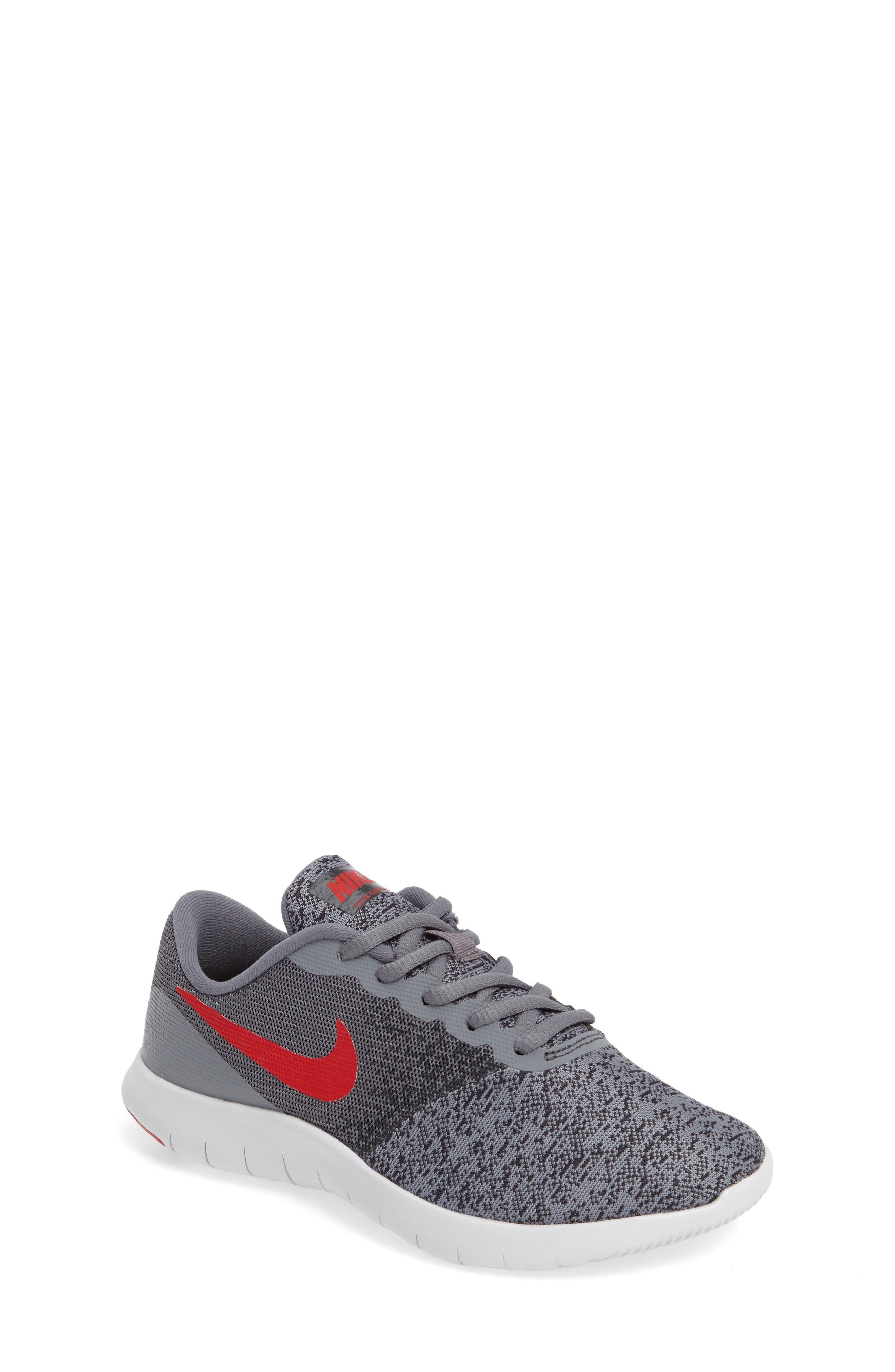 Main Image - Nike Flex Contact Running Shoe (Big Kid) (Regular Retail Price: $65.00)