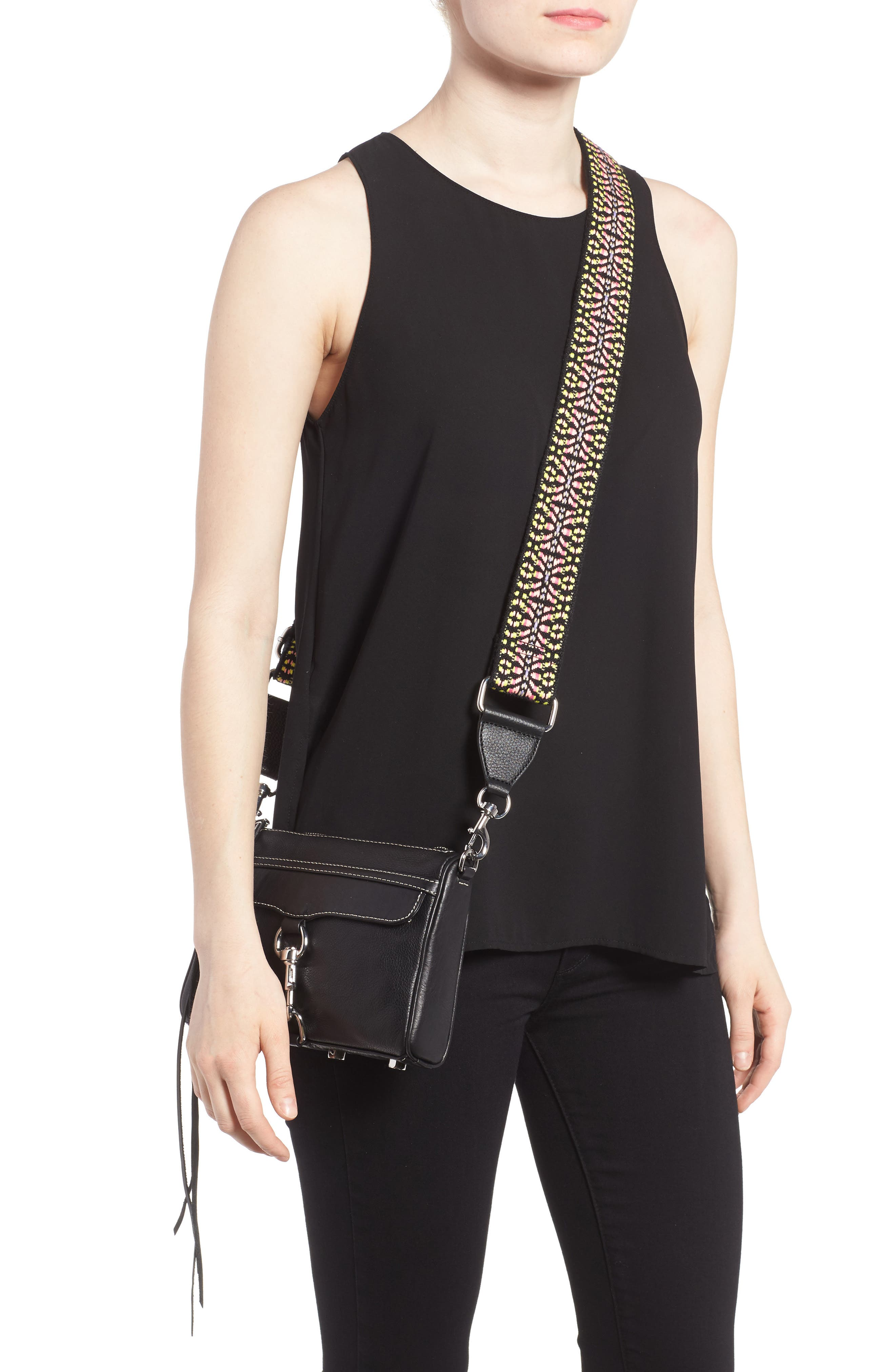 Alternate Image 2  - Rebecca Minkoff Mini MAC Leather Crossbody Bag with Guitar Strap (Nordstrom Exclusive)