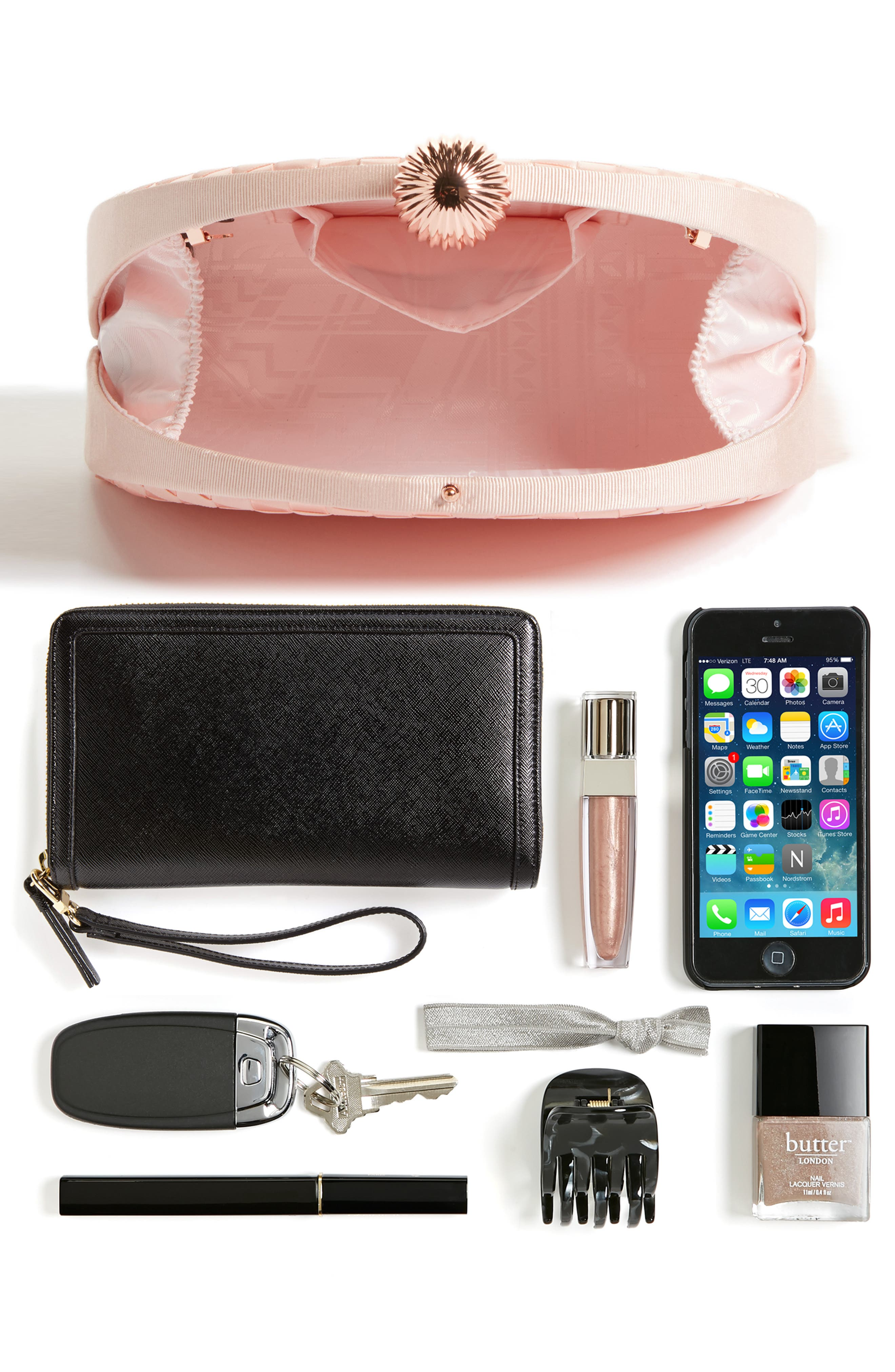 Alternate Image 6  - Ted Baker London Woven Dome Clutch