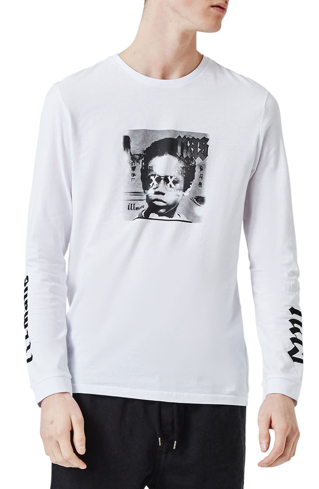 Alternate Image 1 Selected - Topman Nas Illmatic Long Sleeve Graphic T-Shirt