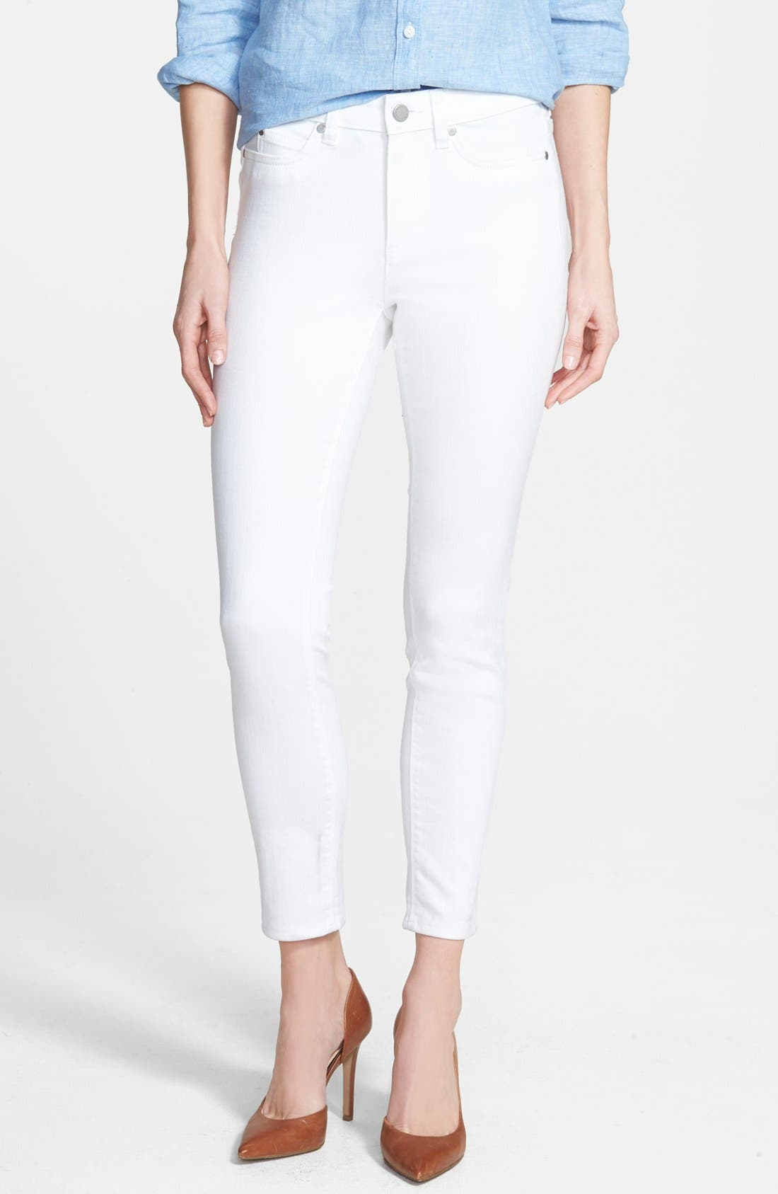 Skinny Jeans,                             Main thumbnail 1, color,                             Ultra White