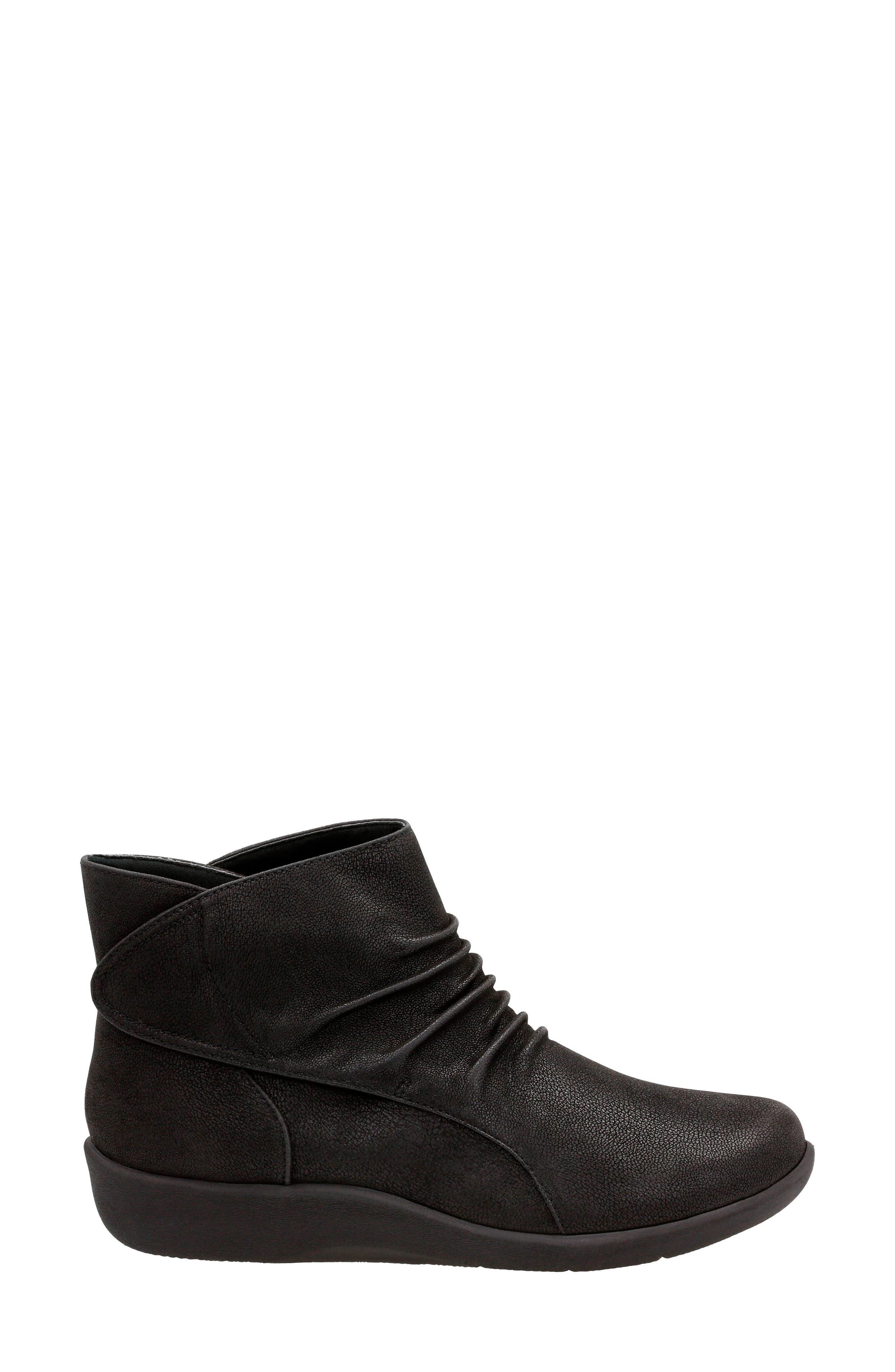 Sillian Sway Boot,                             Alternate thumbnail 3, color,                             Black Fabric