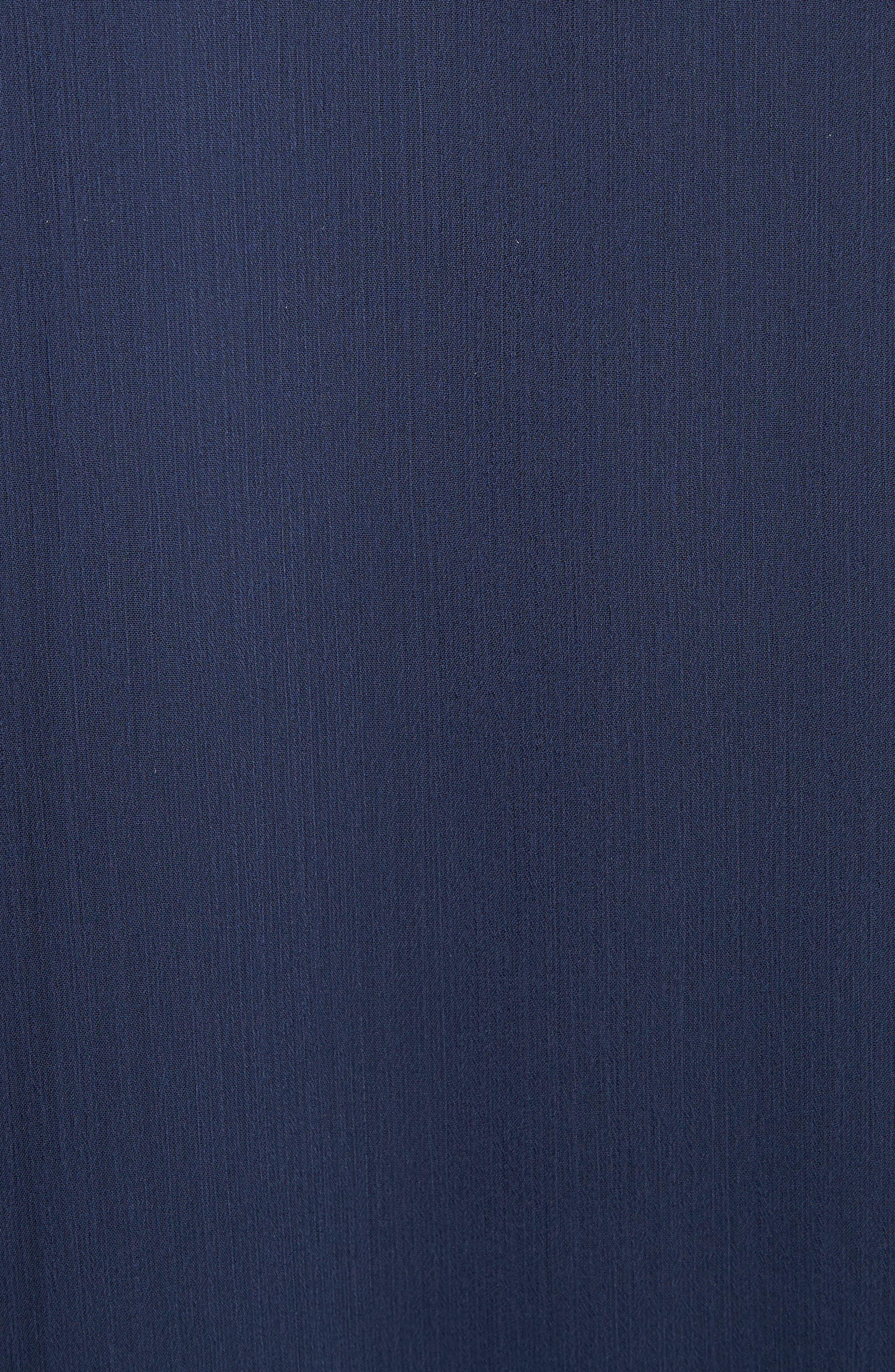 Zoey Drop Waist Dress,                             Alternate thumbnail 5, color,                             Sapphire