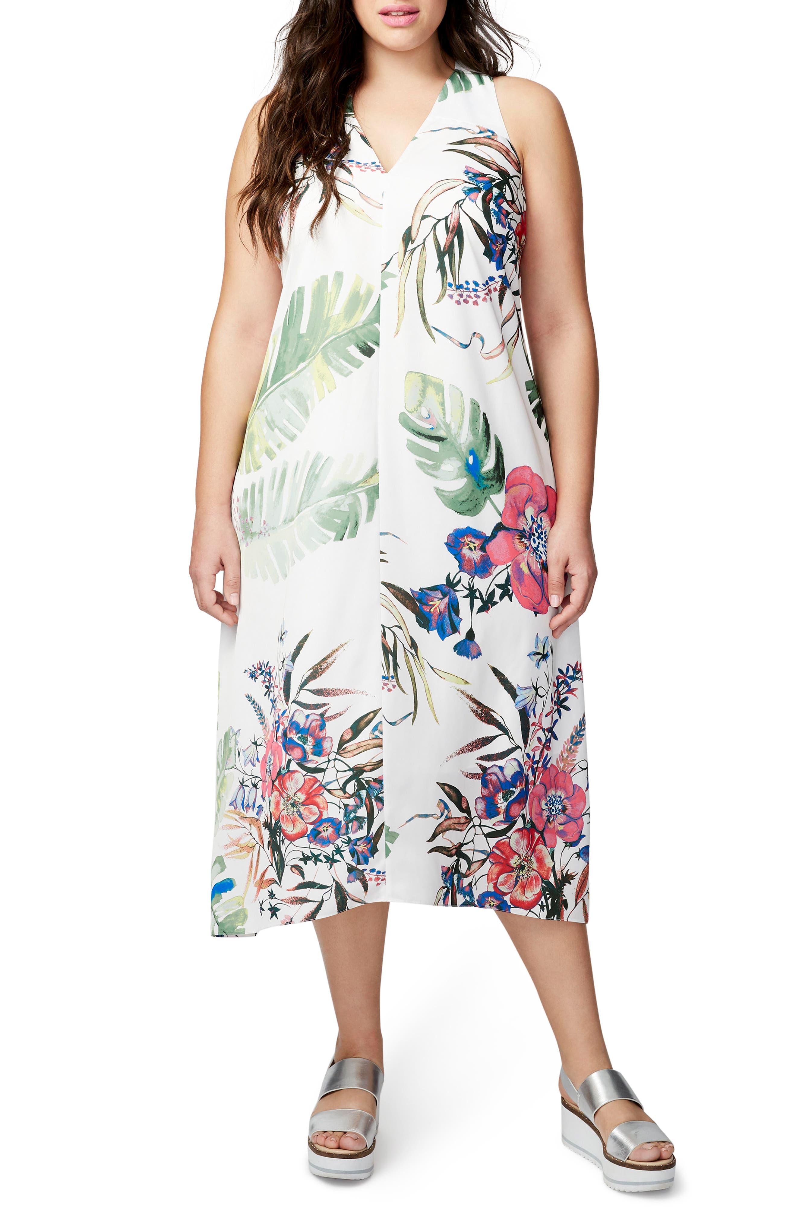 Alternate Image 1 Selected - RACHEL Rachel Roy Print Maxi Dress (Plus Size)