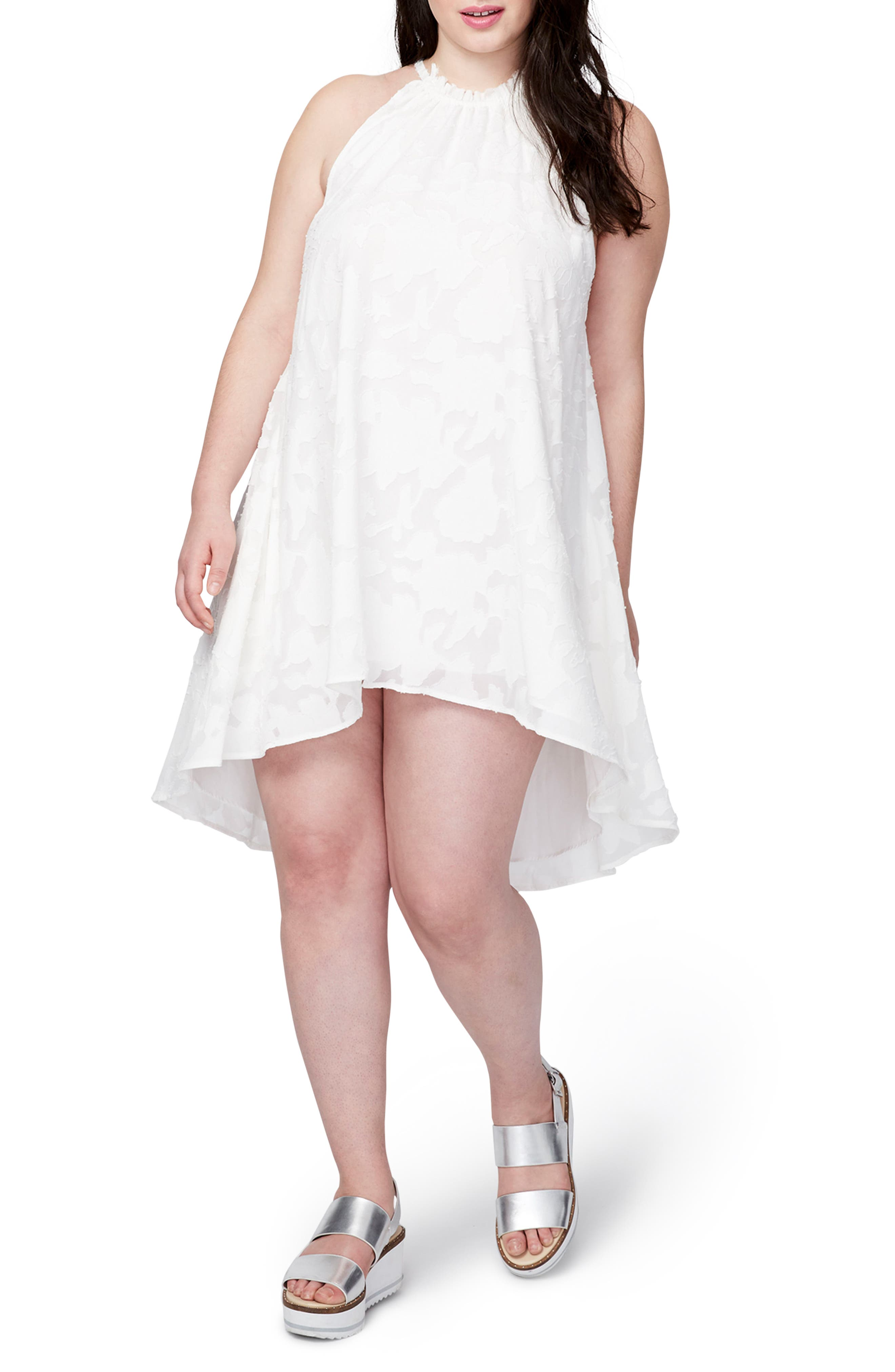 Jacqueline Burnout Swing Dress,                             Main thumbnail 1, color,                             White