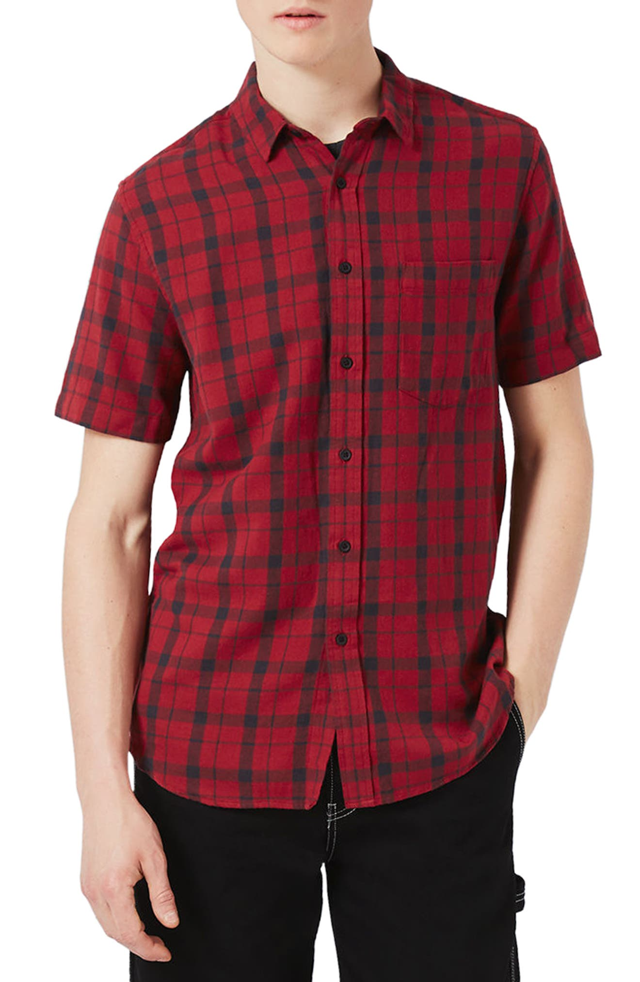 Topman Classic Fit Check Shirt