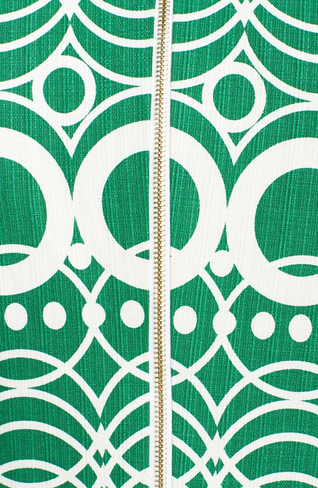 Alternate Image 4  - Eliza J Graphic Print Cotton Shift Dress (Regular & Petite)