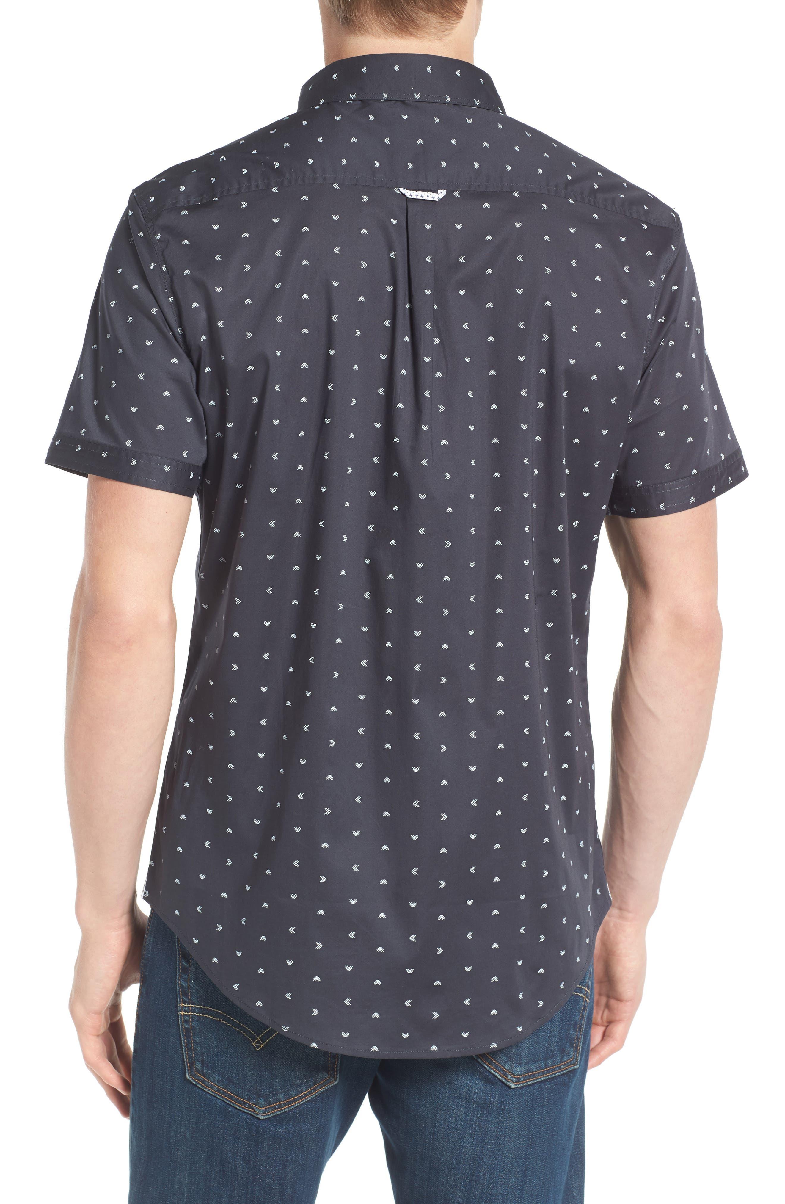 Rising Water Print Woven Shirt,                             Alternate thumbnail 2, color,                             Charcoal