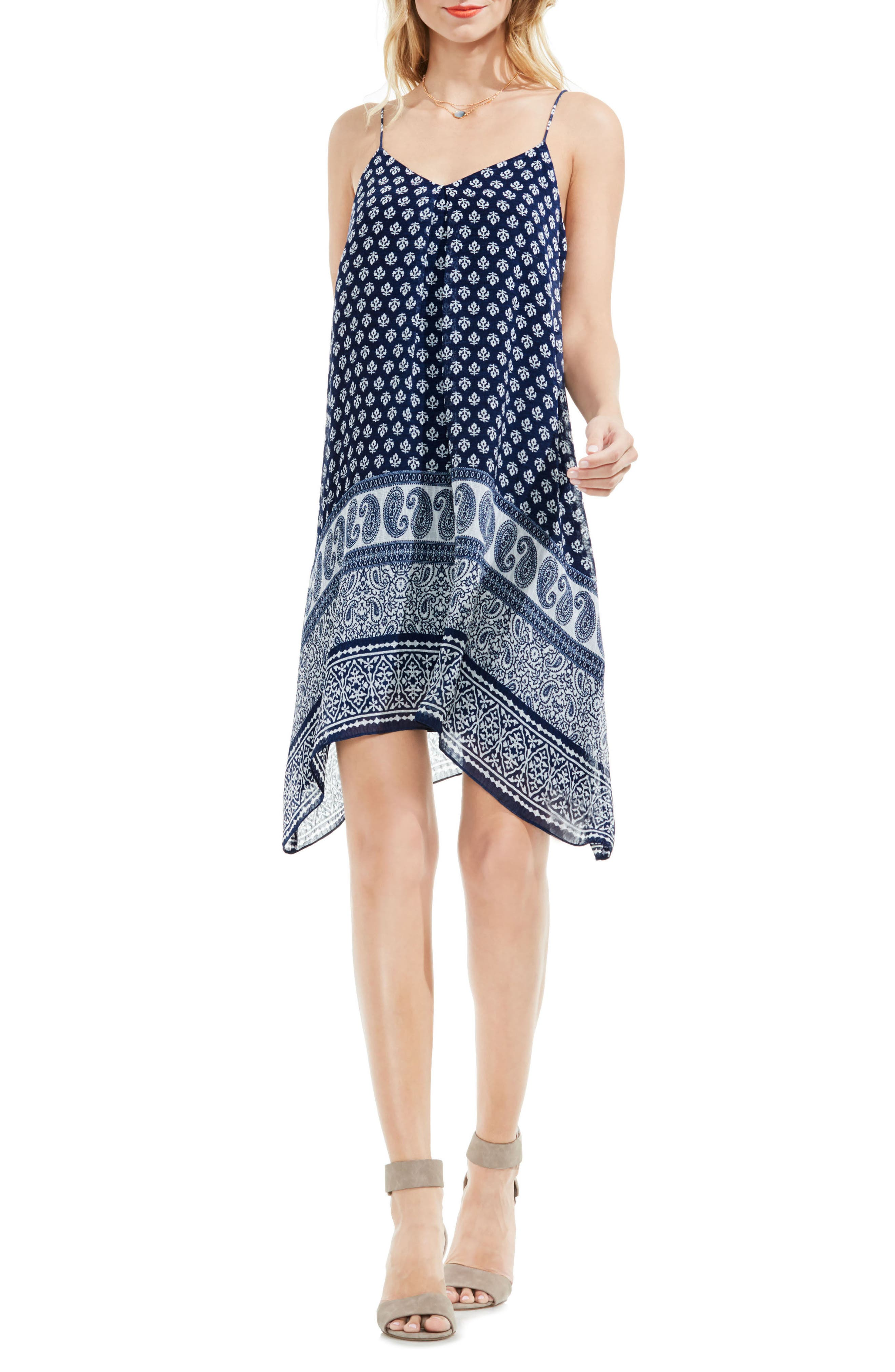 Two by Vince Camuto Playful Paisley Border Slipdress