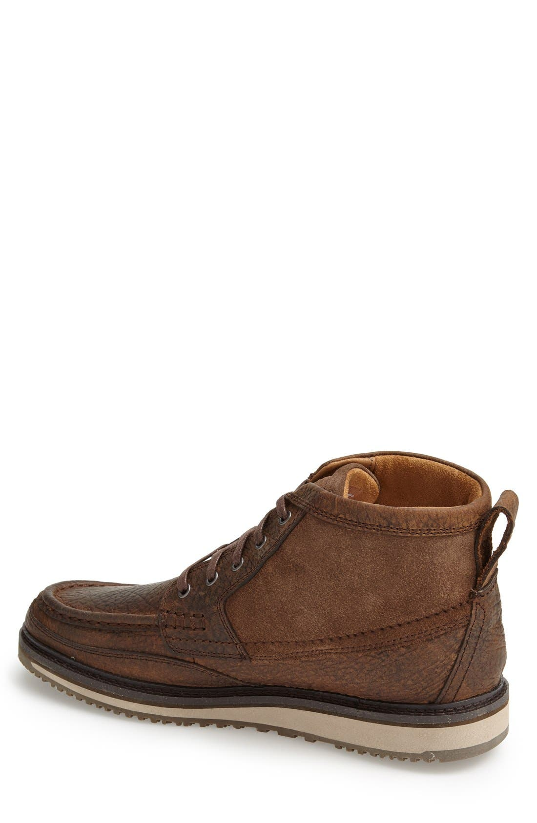 'Lookout' Moc Toe Boot,                             Alternate thumbnail 2, color,                             Brown