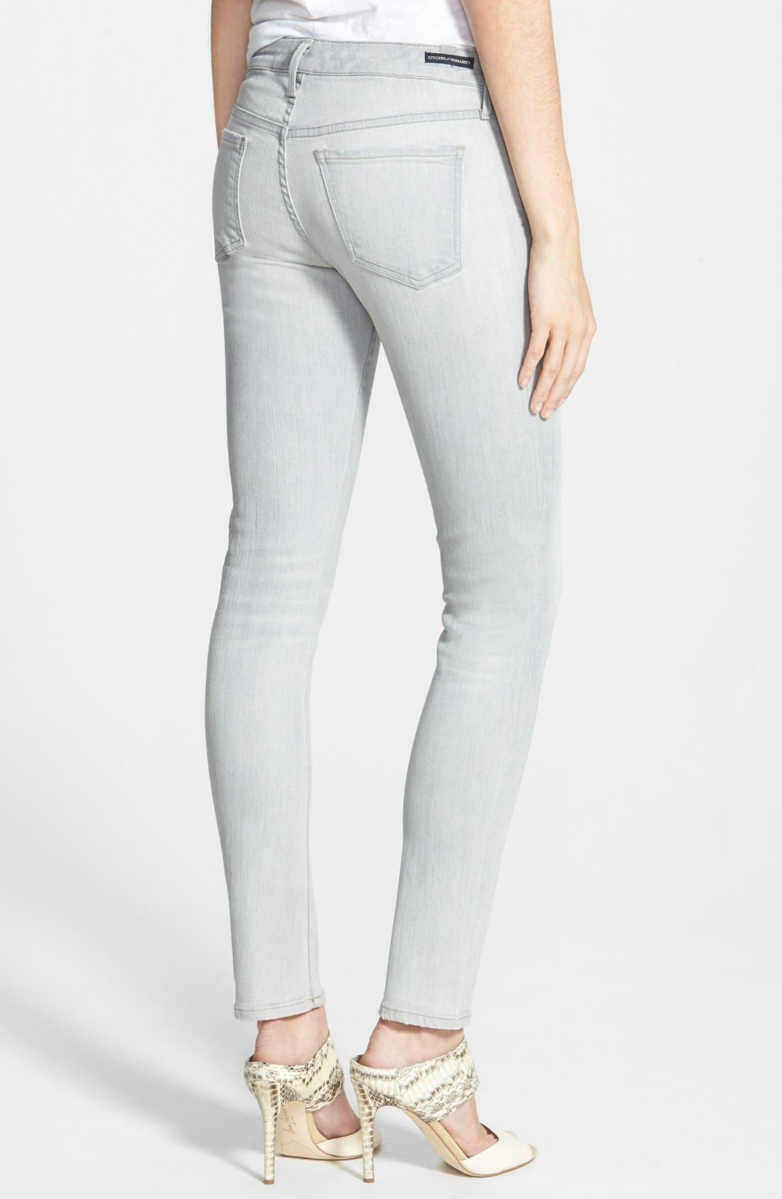 'Arielle' Skinny Jeans,                             Alternate thumbnail 2, color,                             Vernet