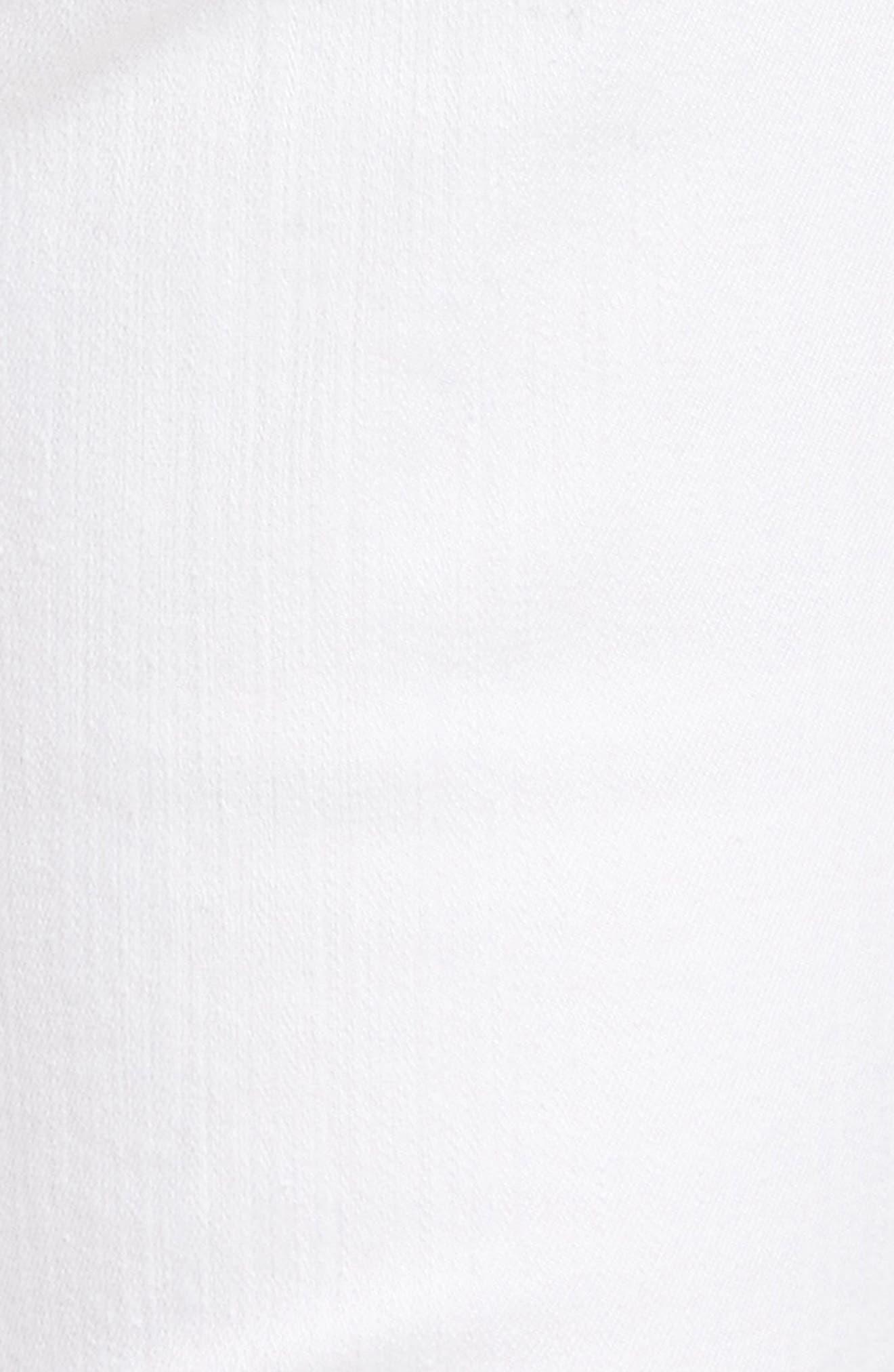Alina Eyelet Hem Stretch Skinny Jeans,                             Alternate thumbnail 6, color,                             Optic White