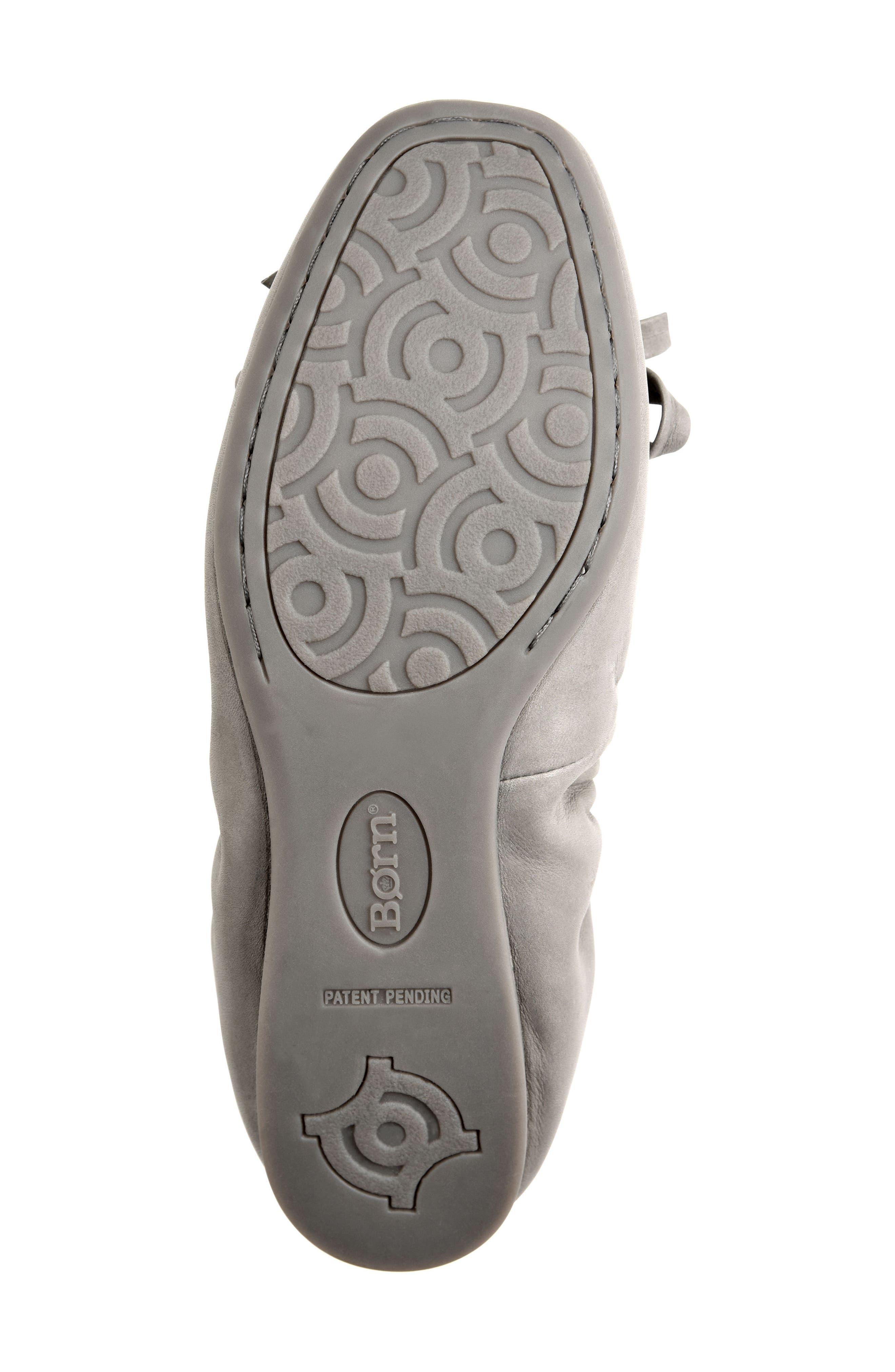 Karoline Ballet Flat,                             Alternate thumbnail 4, color,                             Grey Leather