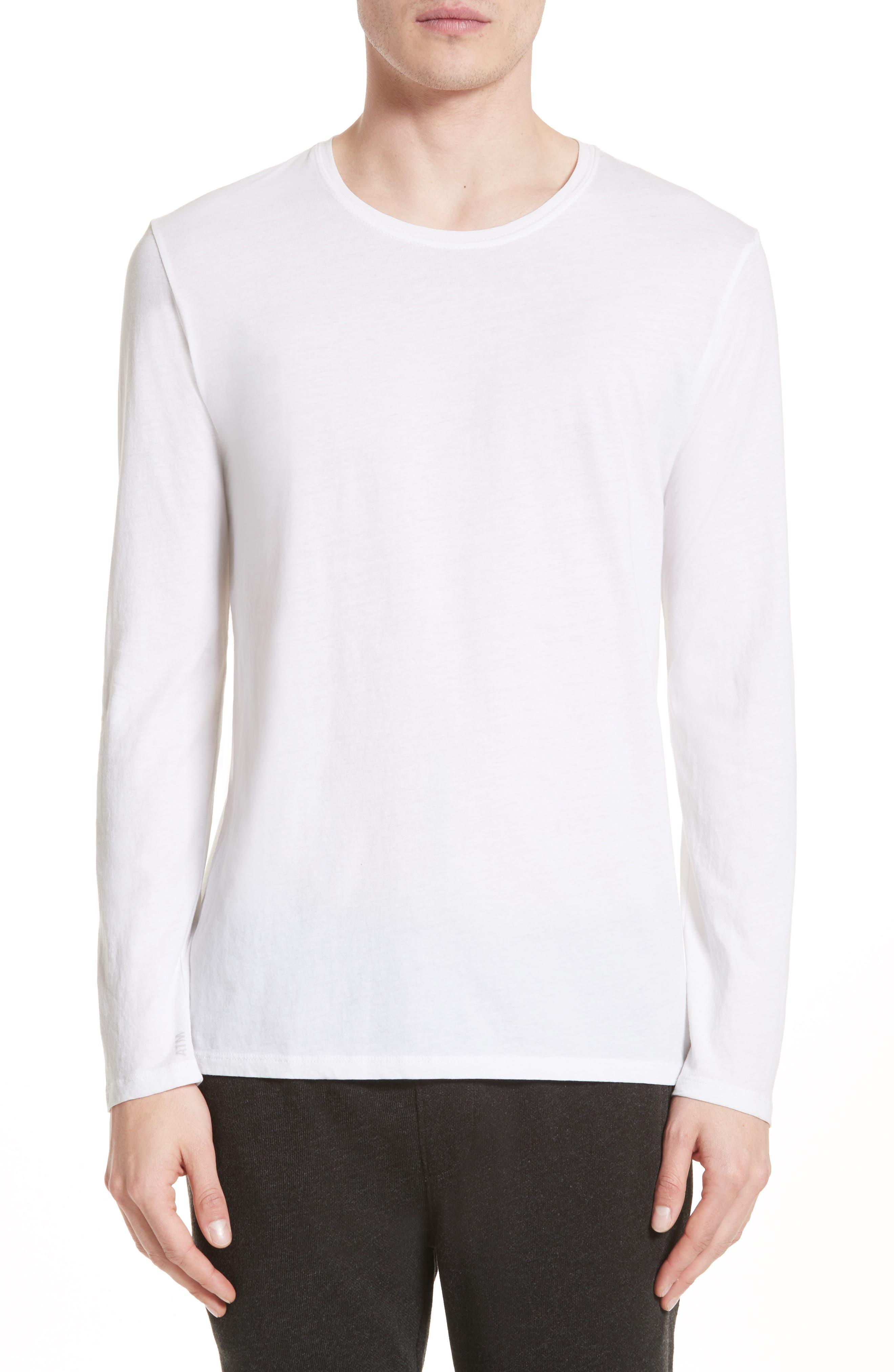Cotton Crewneck,                         Main,                         color, White