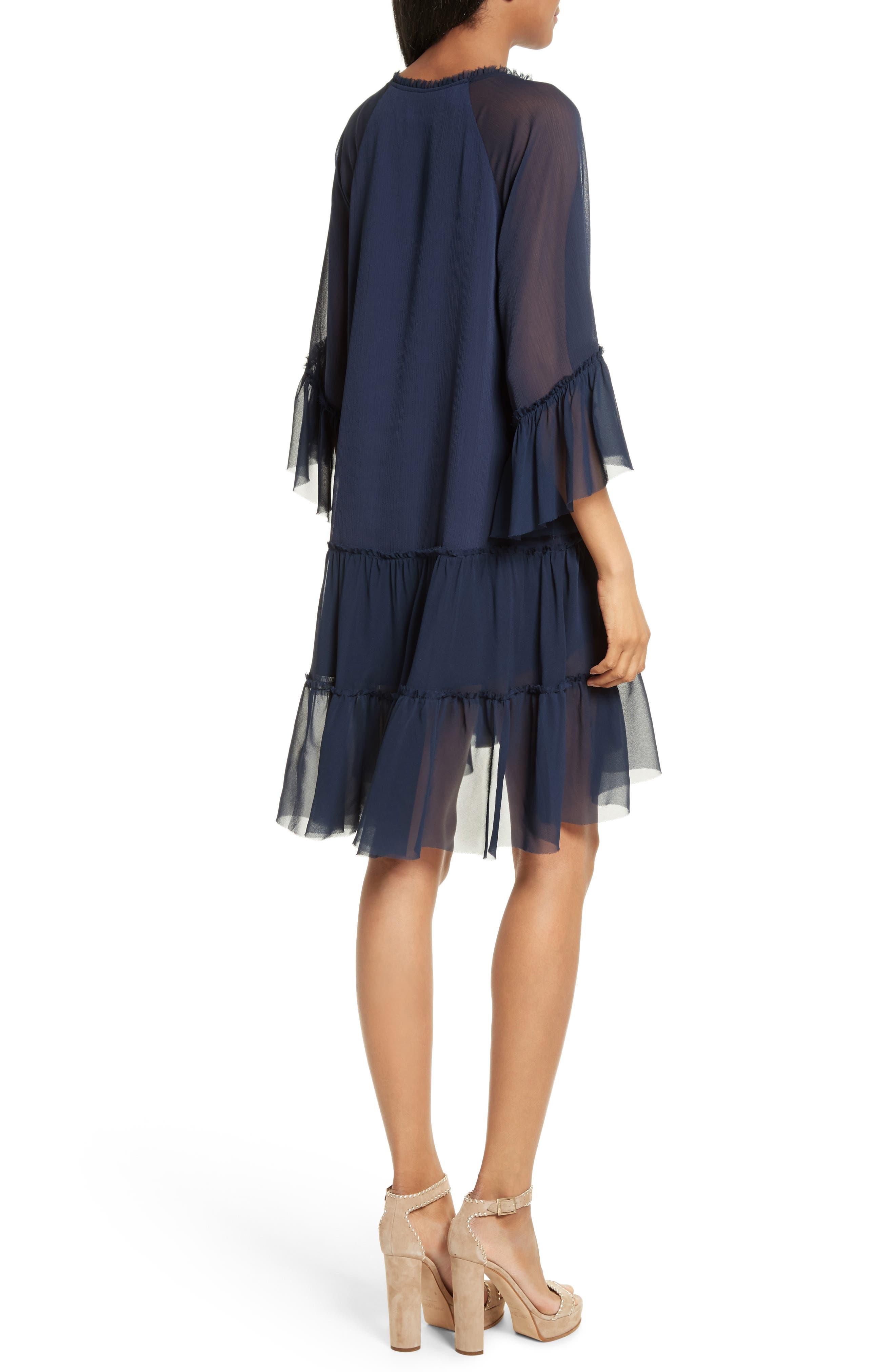 Zoey Drop Waist Dress,                             Alternate thumbnail 2, color,                             Sapphire