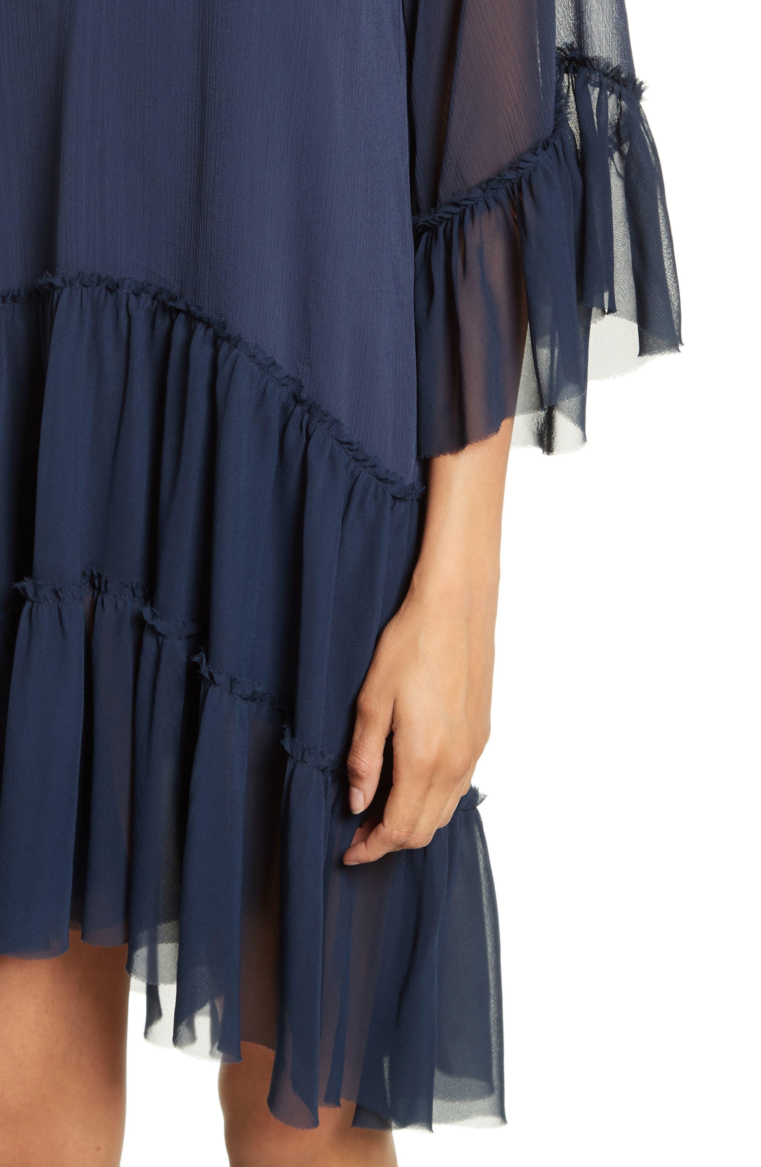 Zoey Drop Waist Dress,                             Alternate thumbnail 4, color,                             Sapphire