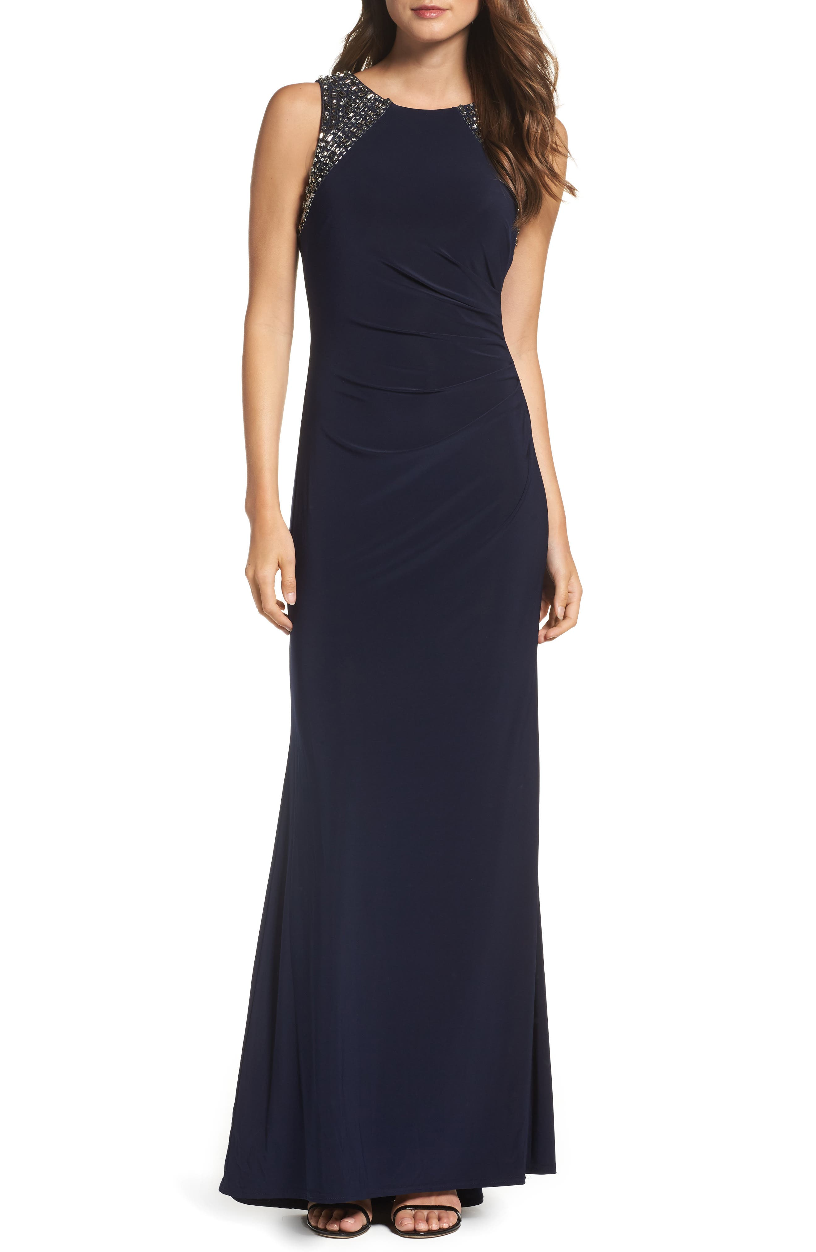 VINCE CAMUTO Beaded Gown