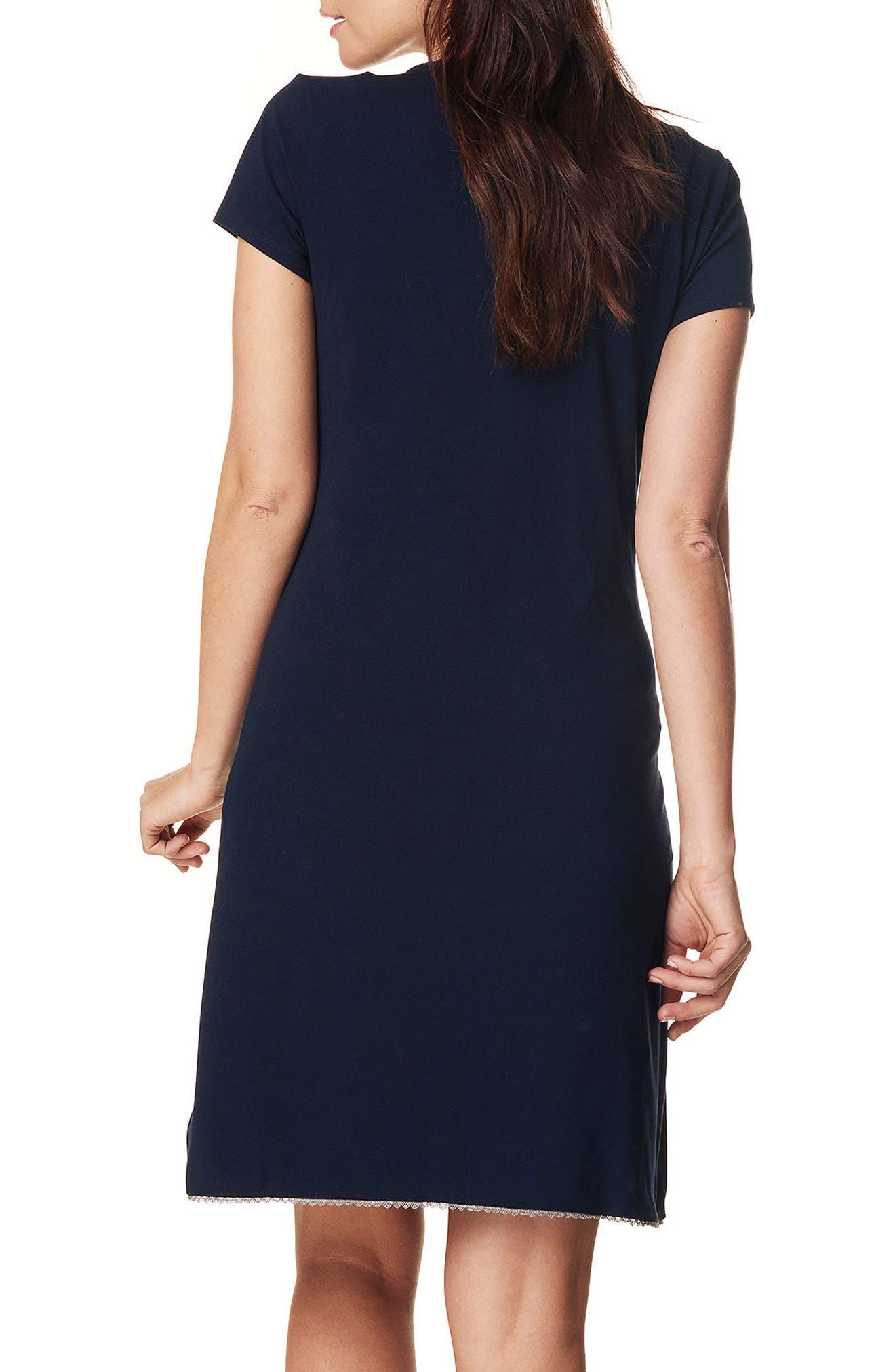 Kimm Maternity/Nursing Jersey Dress,                             Alternate thumbnail 2, color,                             Blue