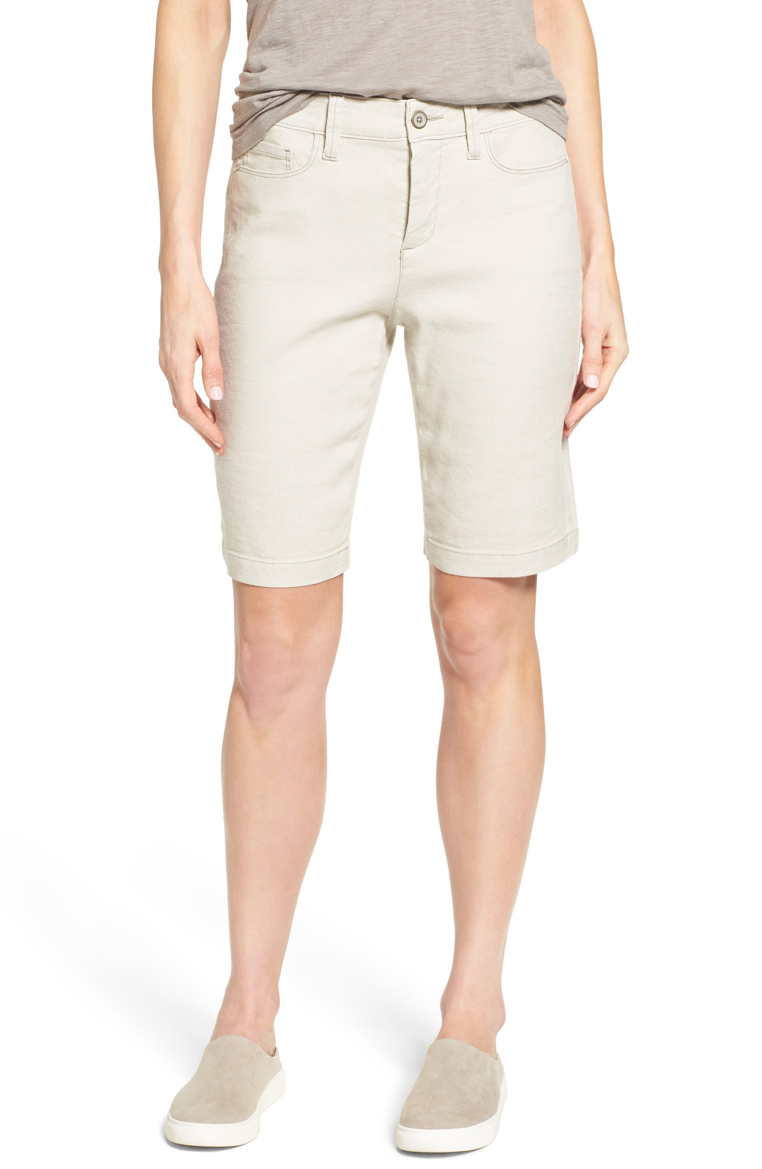 Main Image - NYDJ Catherine Linen Blend Bermuda Shorts (Regular & Petite)