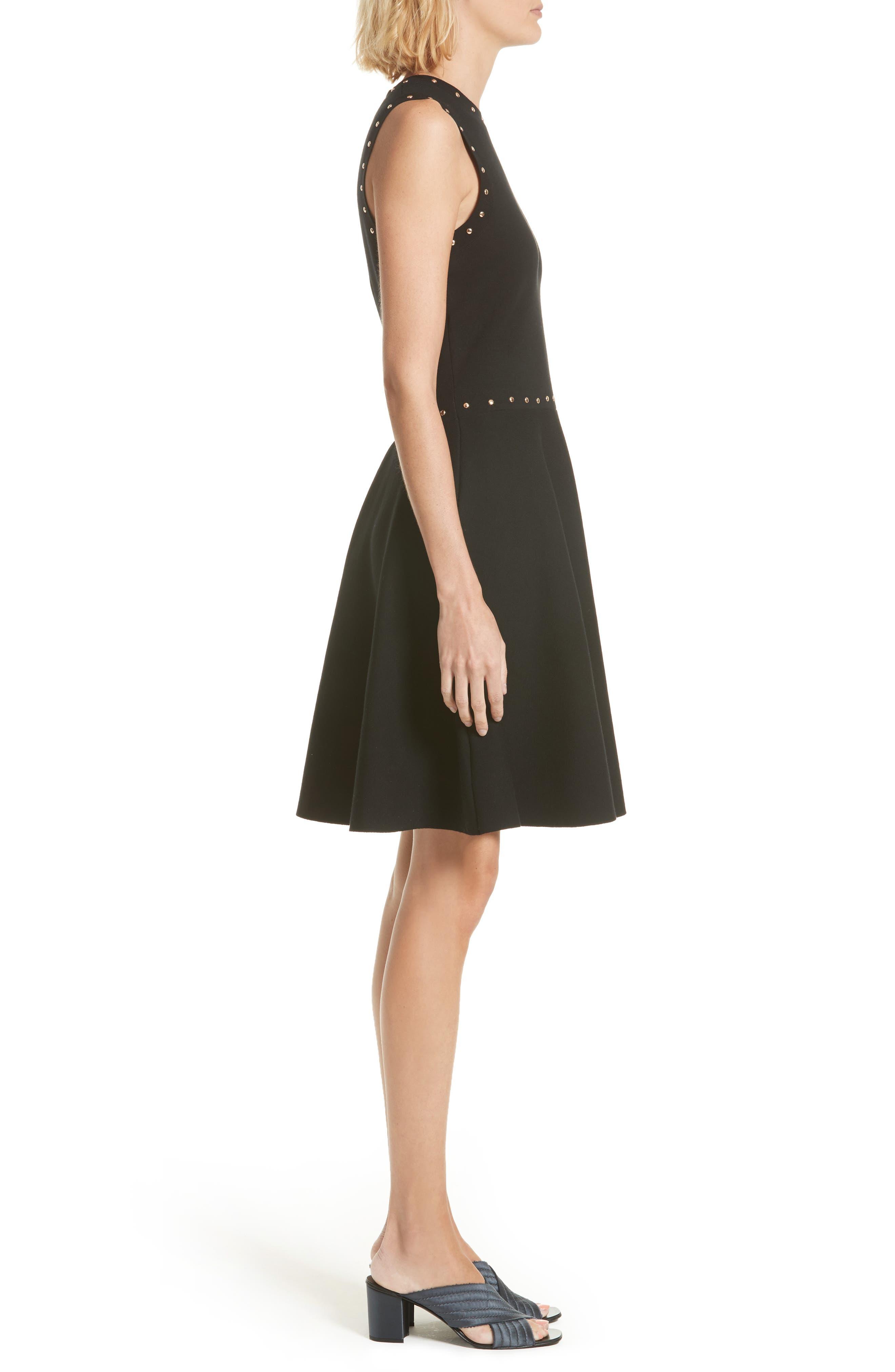 Alternate Image 3  - kate spade new york studded fit & flare dress