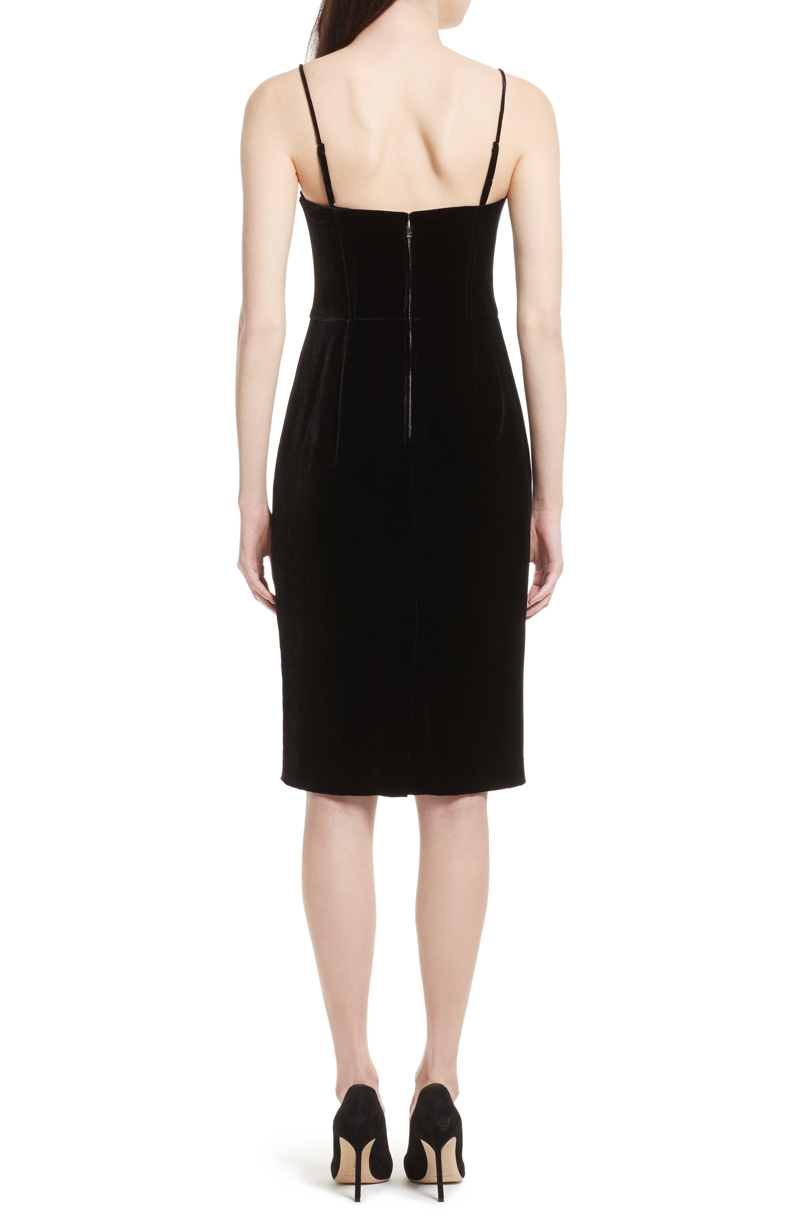 Luxe Velvet Corset Dress,                             Alternate thumbnail 2, color,                             Black