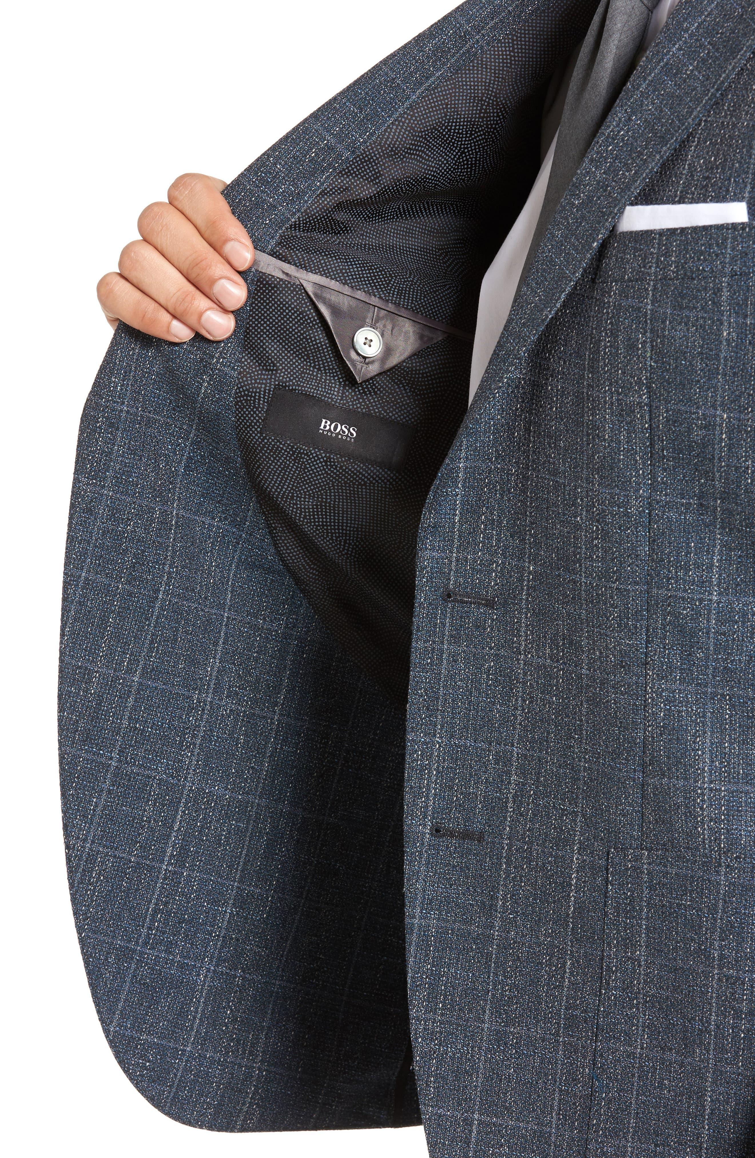Alternate Image 4  - BOSS Janson Trim Fit Windowpane Wool Blend Sport Coat
