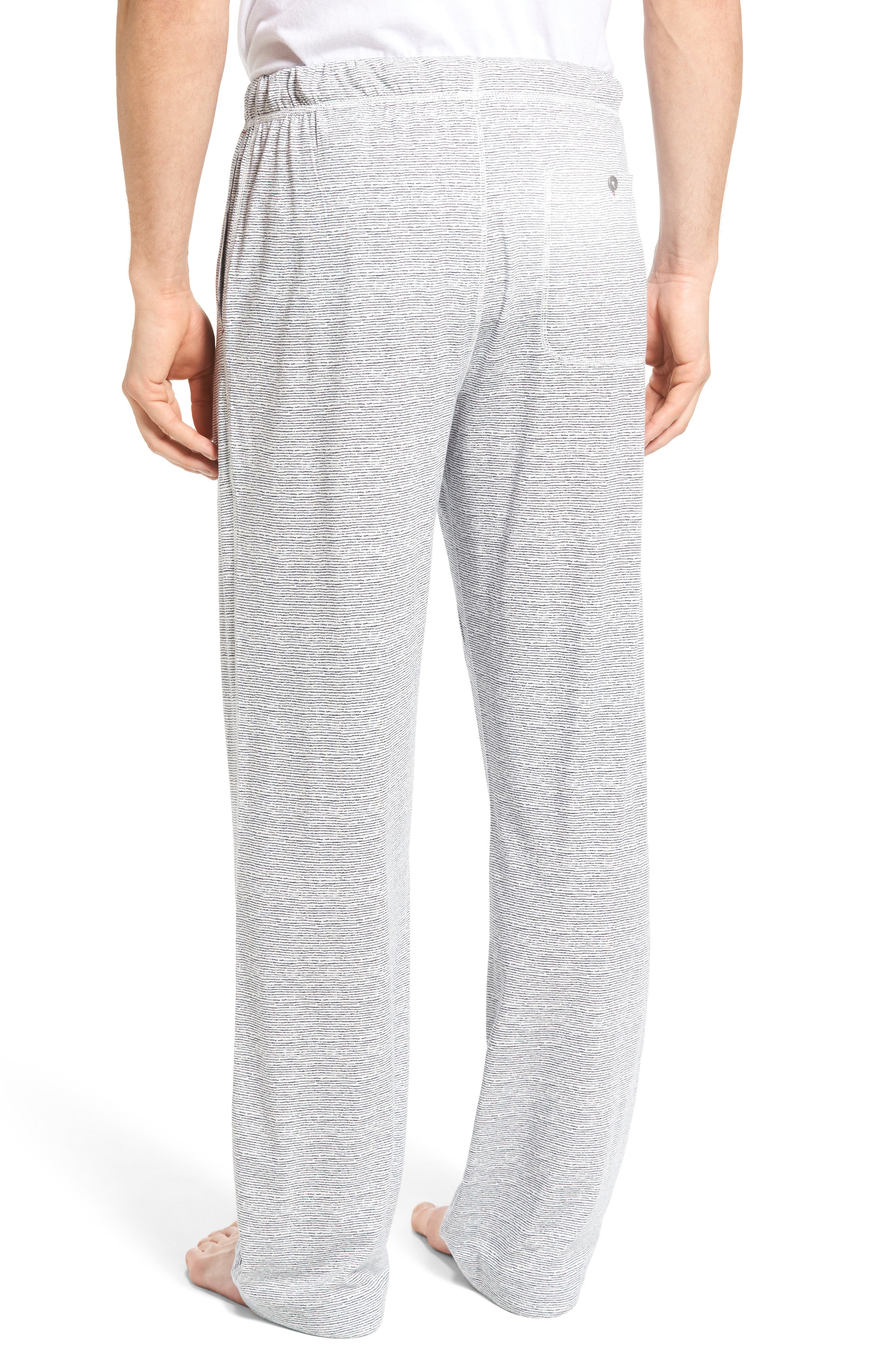 Pima Cotton & Modal Lounge Pants,                             Alternate thumbnail 2, color,                             Blue