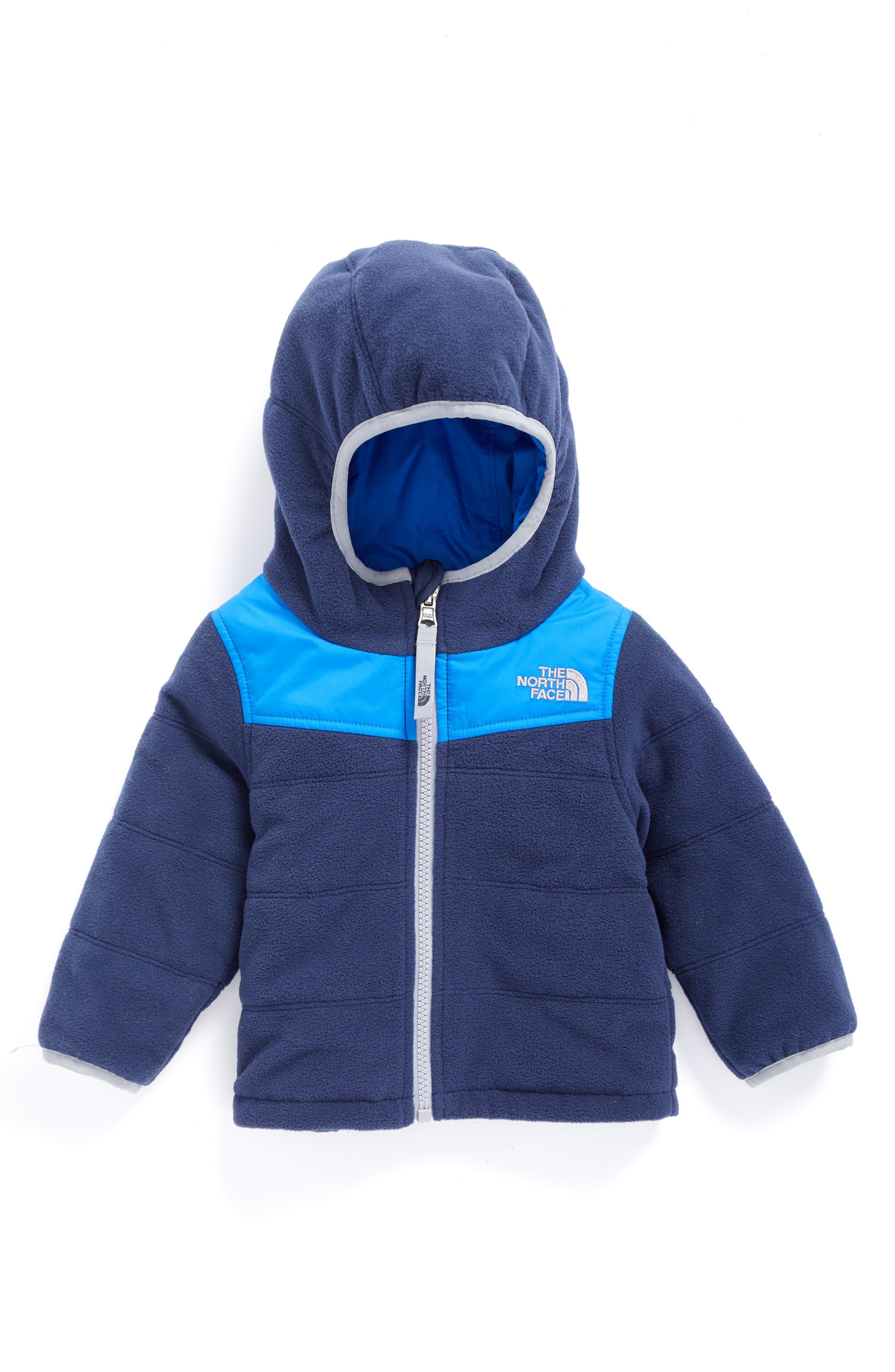 True or False Reversible Water Resistant Jacket,                         Main,                         color, Cosmic Blue/ Jake Blue