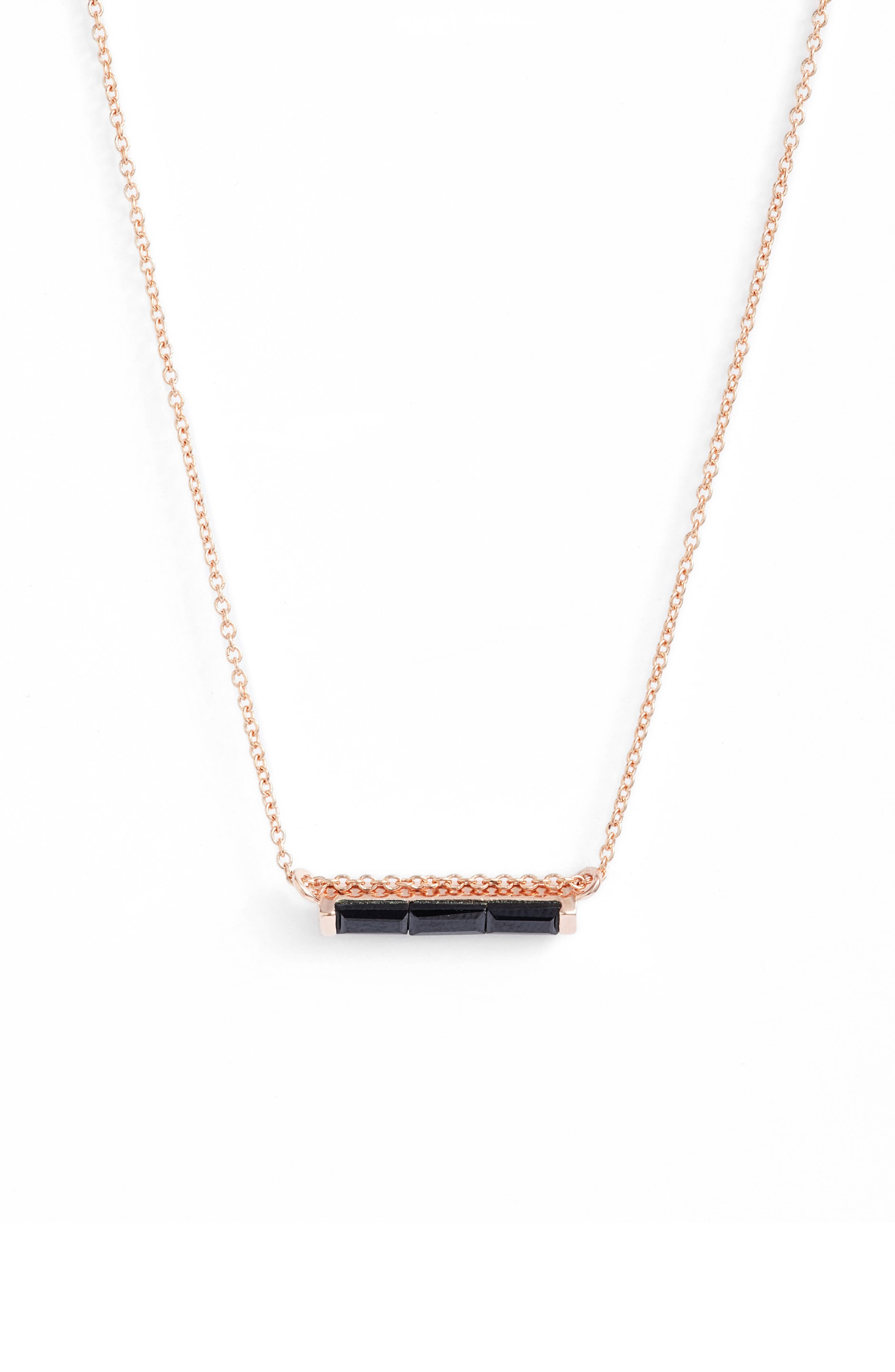 Leah Alexandra Channel Set Semiprecious Stone Necklace
