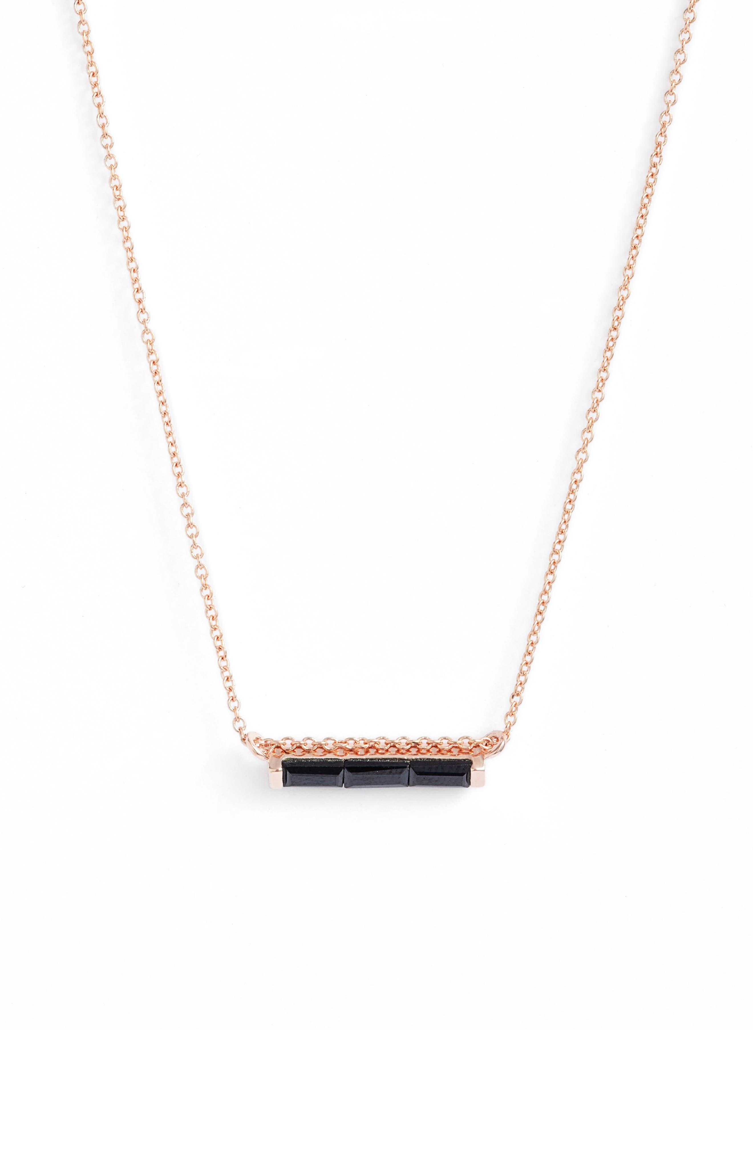 Leah Alexandra Channel Set Semiprecious Stone Necklace